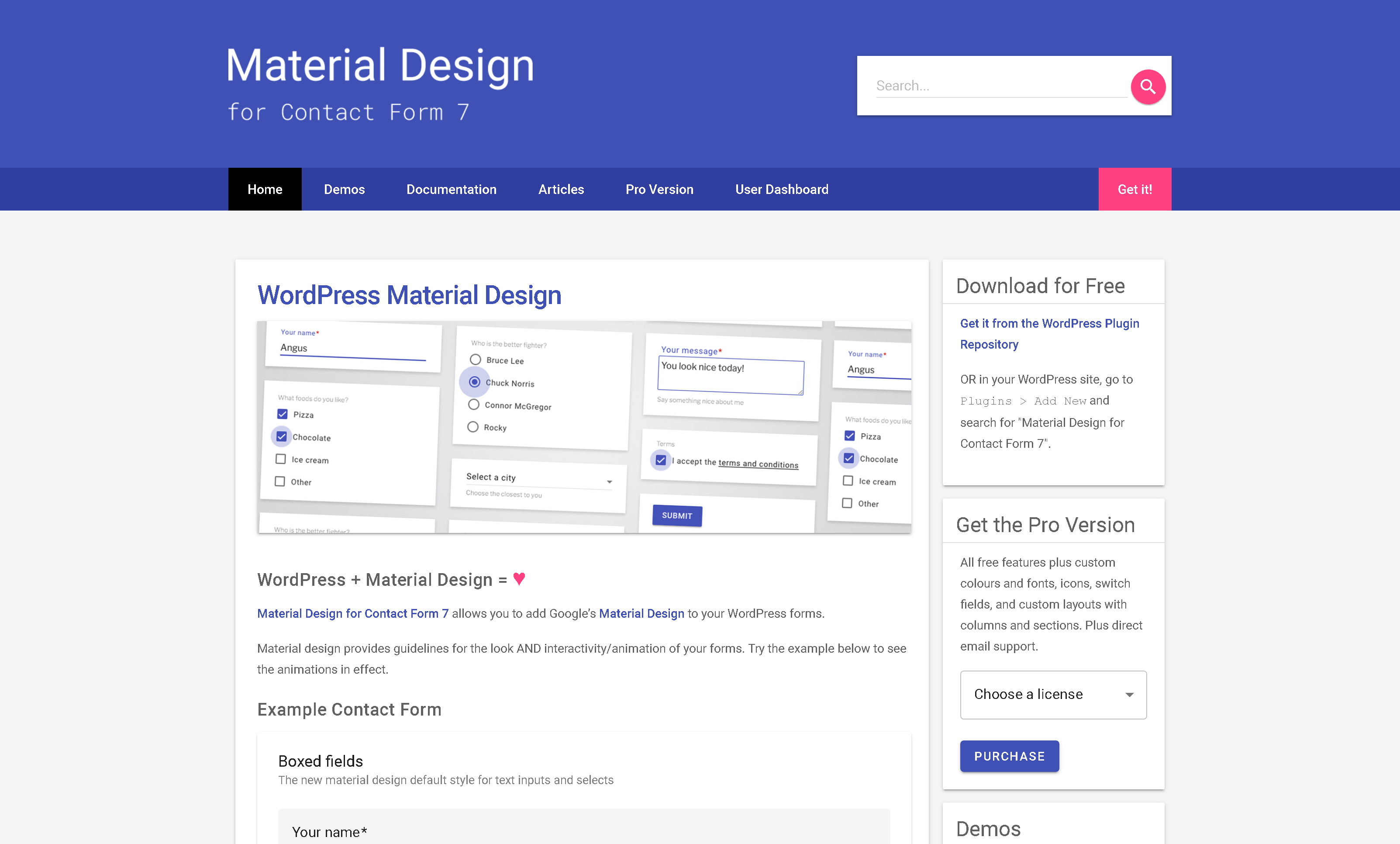 Material Design for Contact Form 7 Pro 2.6.1 – WordPress Material Design