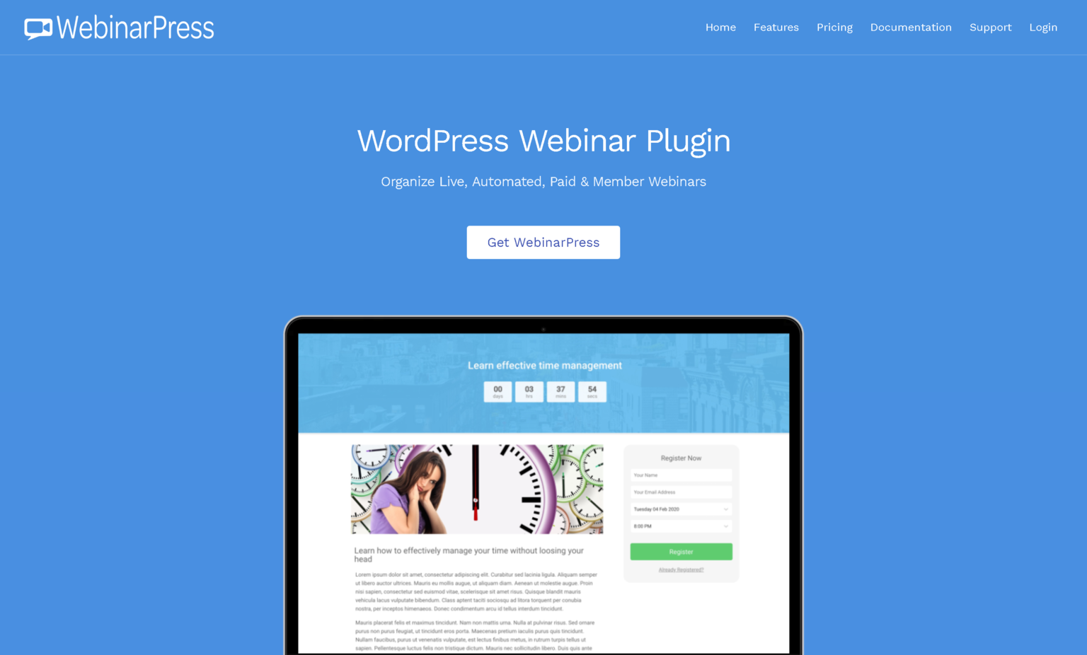 WebinarPress Pro 2.24.30 – WordPress Webinar Plugin: Organize Live, Automated, Paid & Member Webinars
