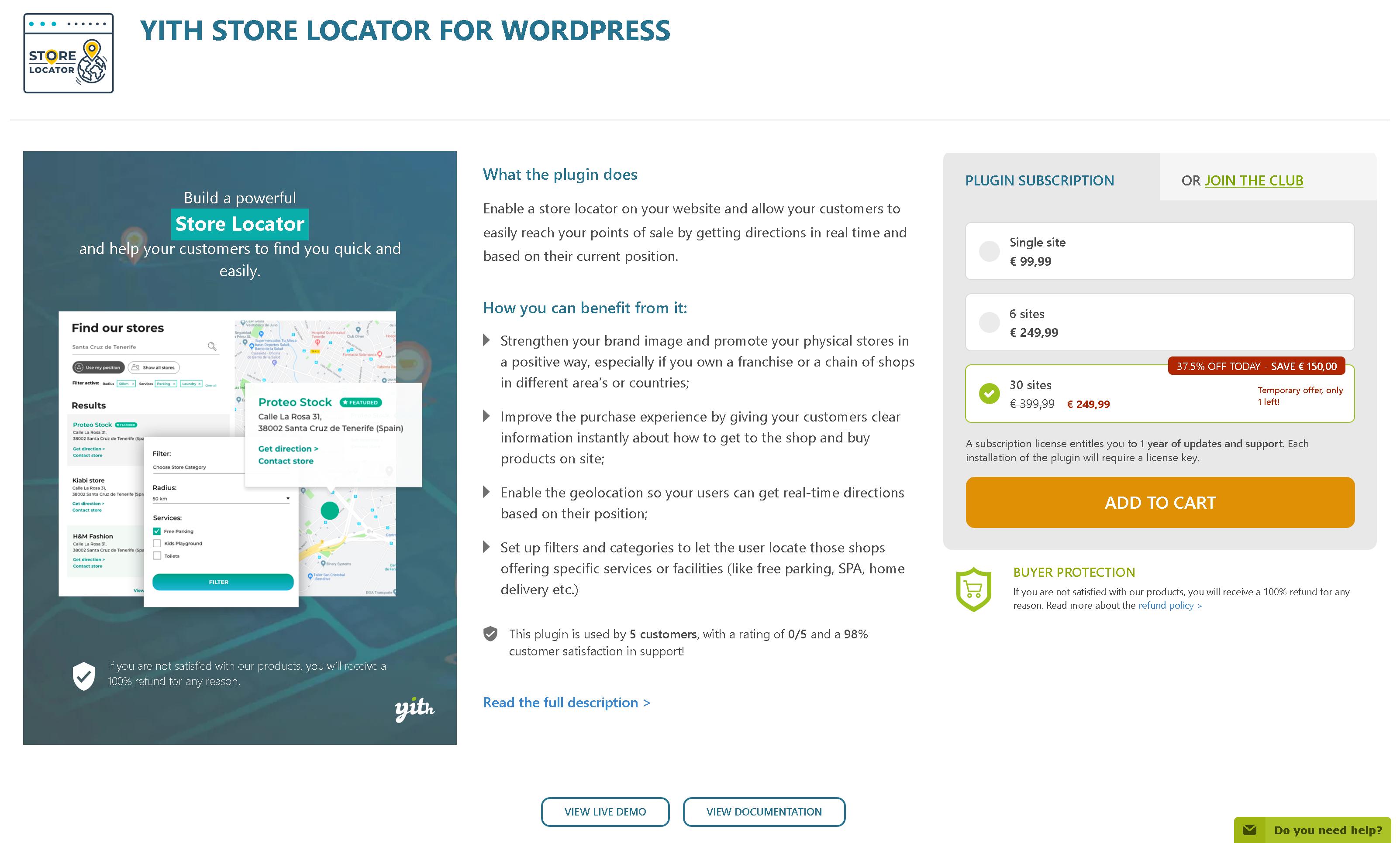 YITH Store Locator for WordPress 1.0.2