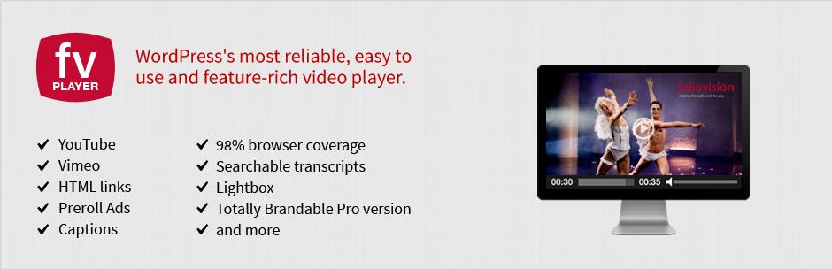 FV Flowplayer Video Player Pro 7.5.0.727