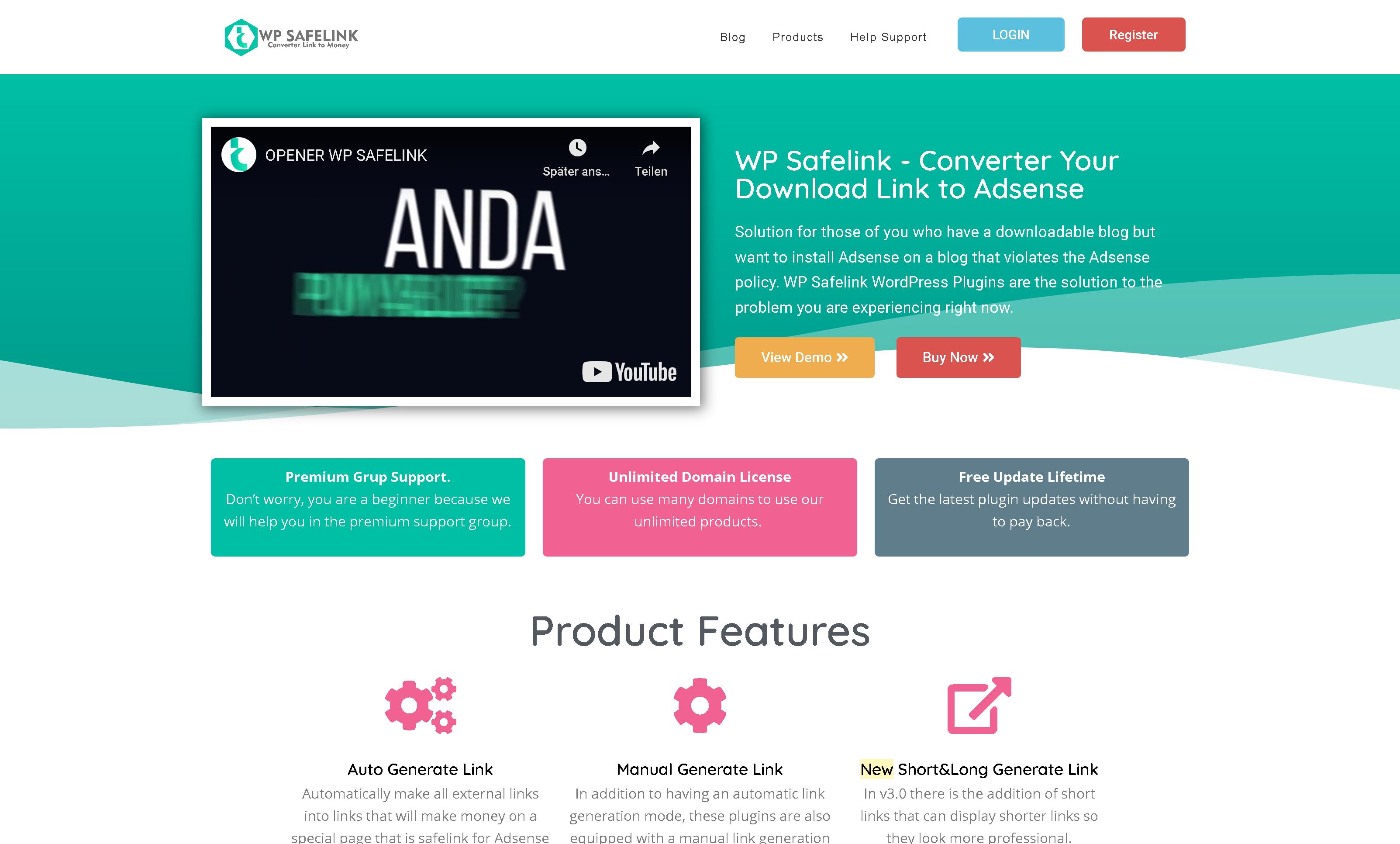 WP Safelink 4.3.5 + Client Version – Converter Your Download Link to Adsense