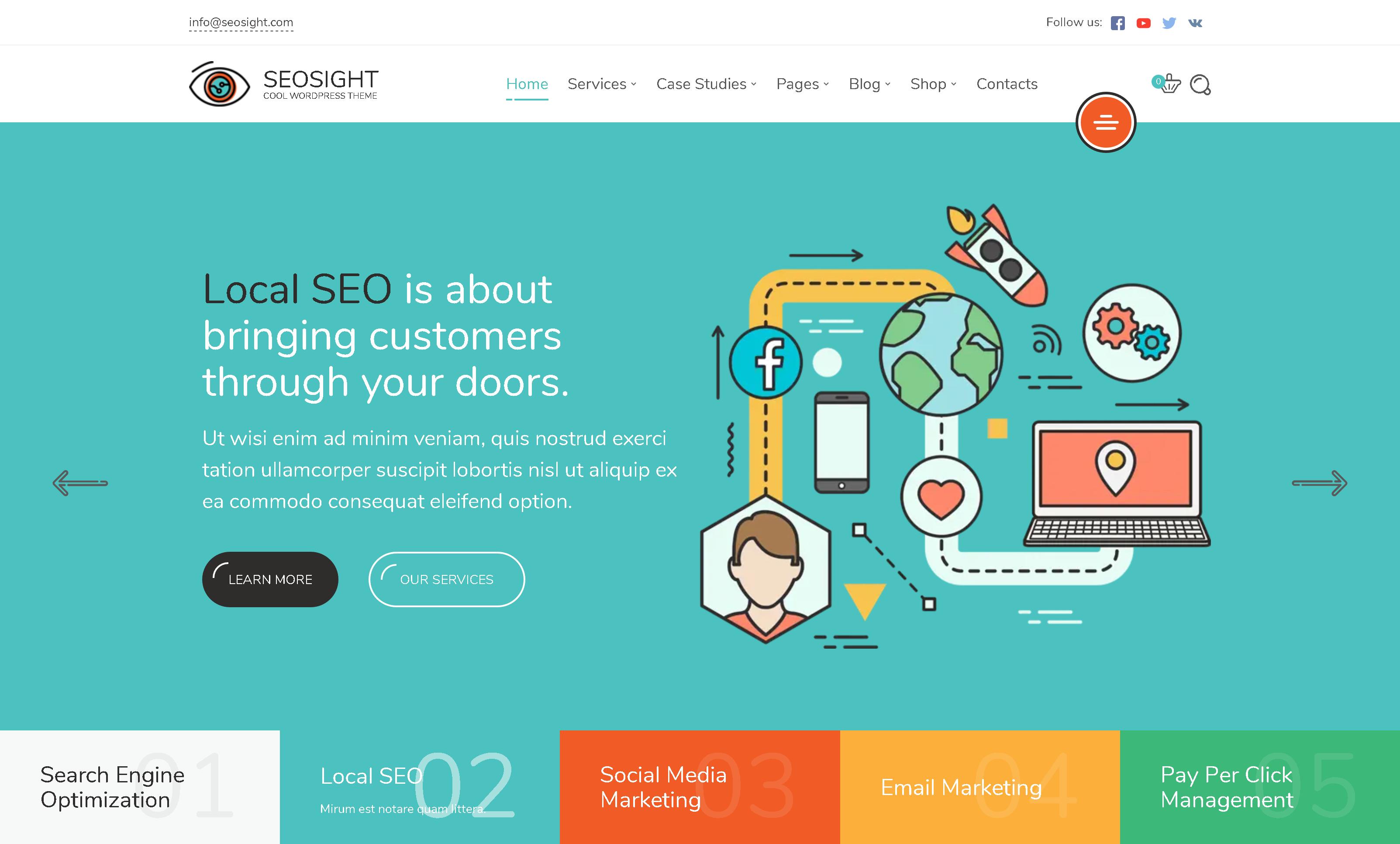 Seosight 4.9.9 – Digital Marketing Agency WordPress Theme