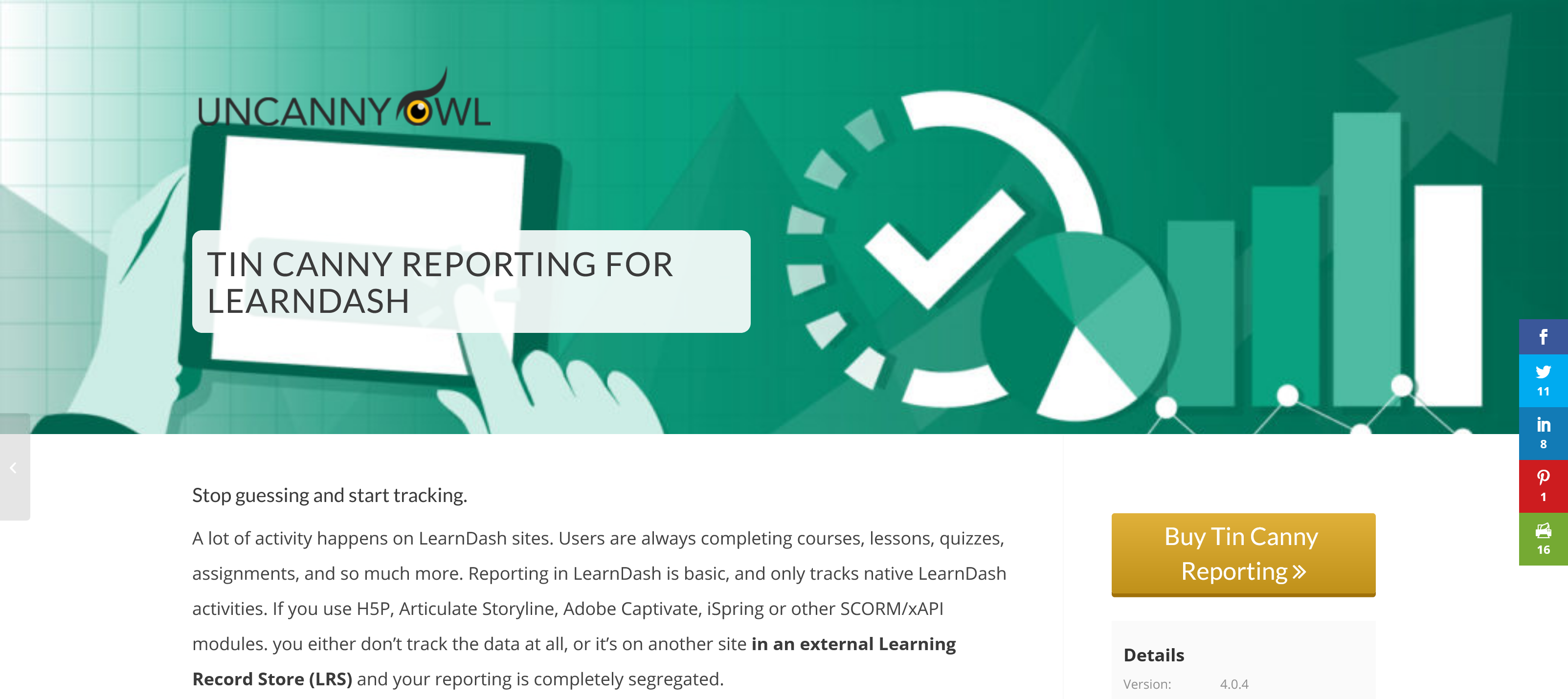 Tin Canny LearnDash Reporting 3.6.2 – Stop guessing and start tracking