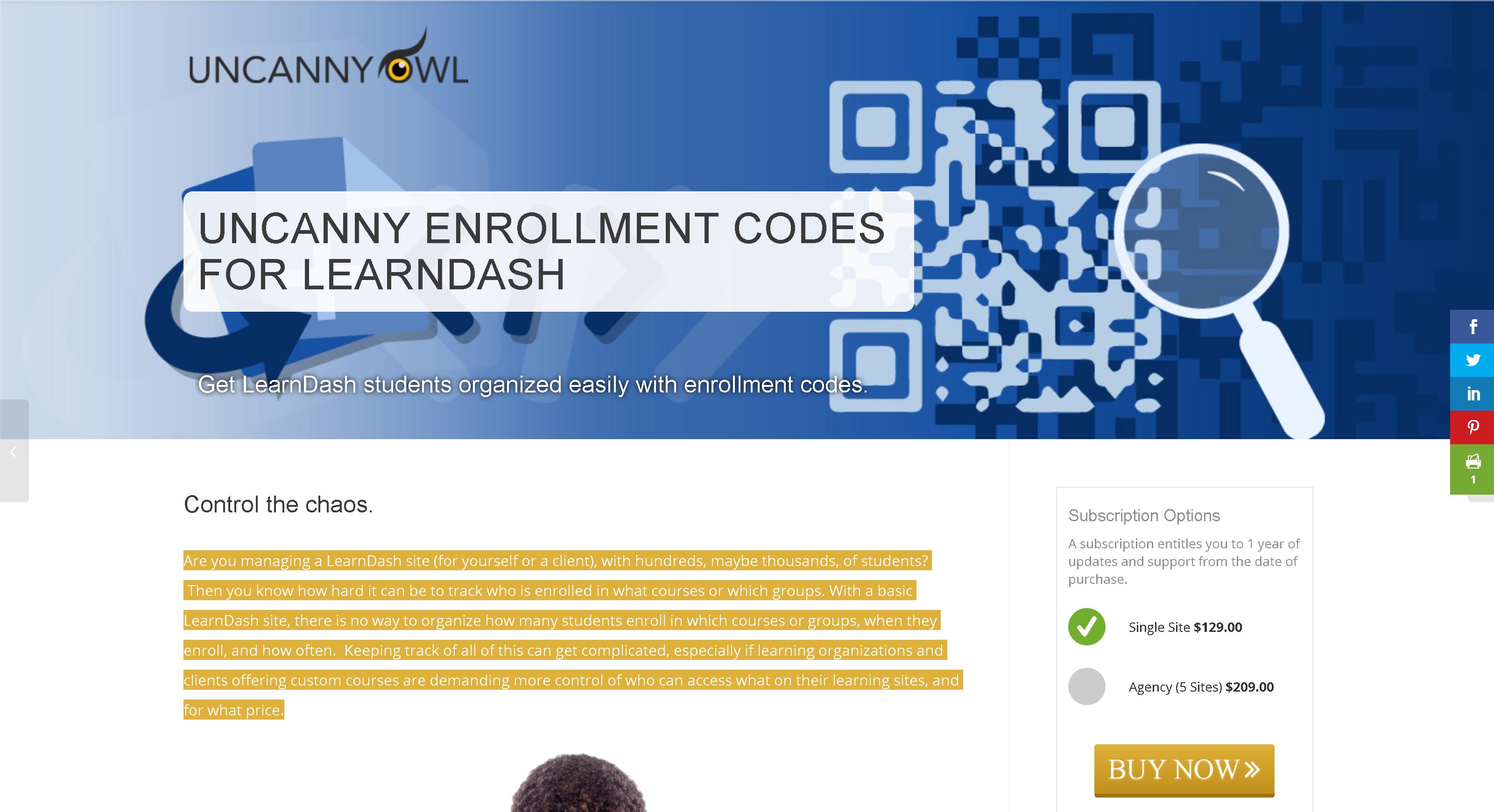 Uncanny LearnDash Enrollment Codes 3.2.0 – Get students organized easily with enrollment codes