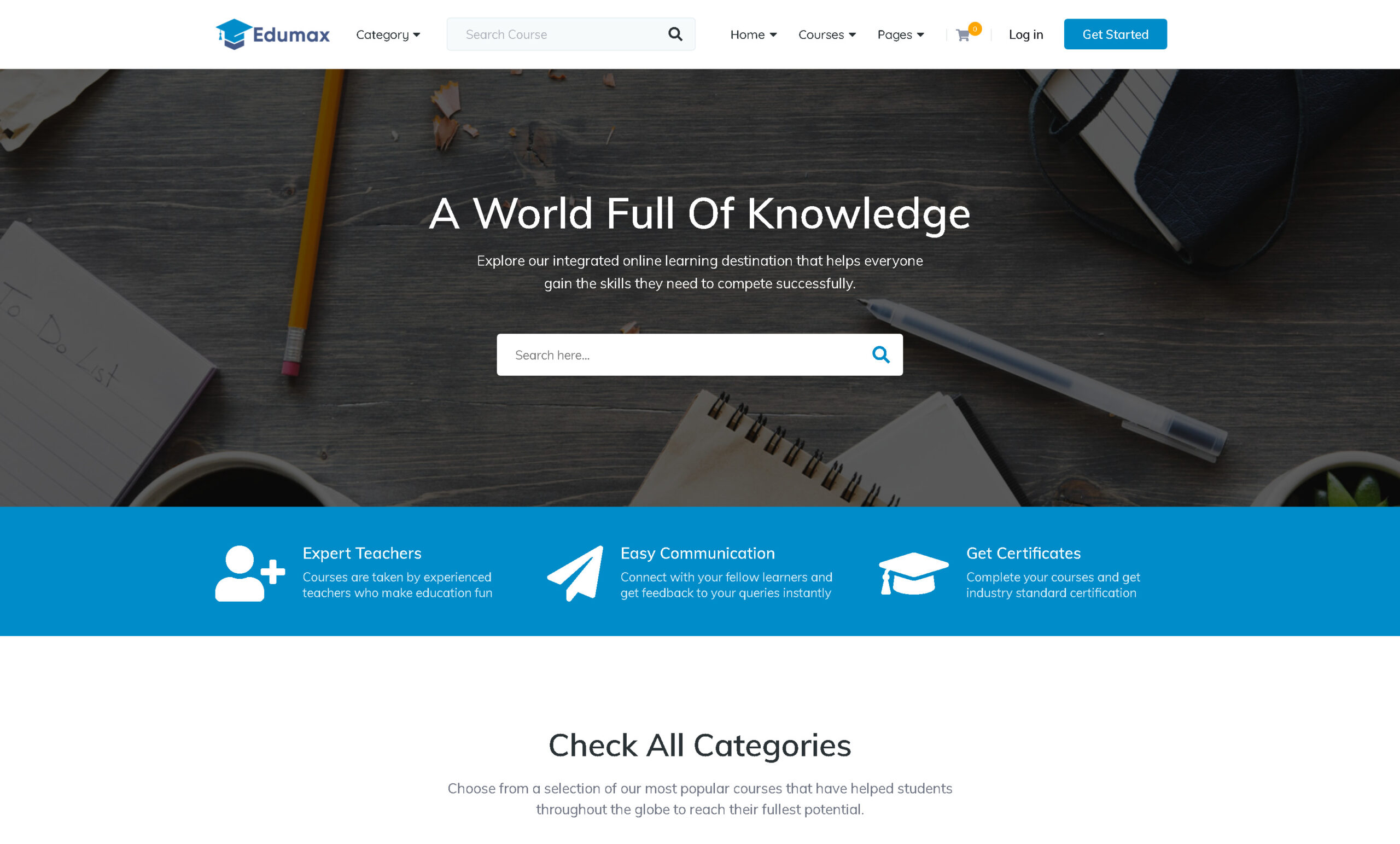 Edumax 2.0.7 – WordPress Theme To Build Online Course Portal