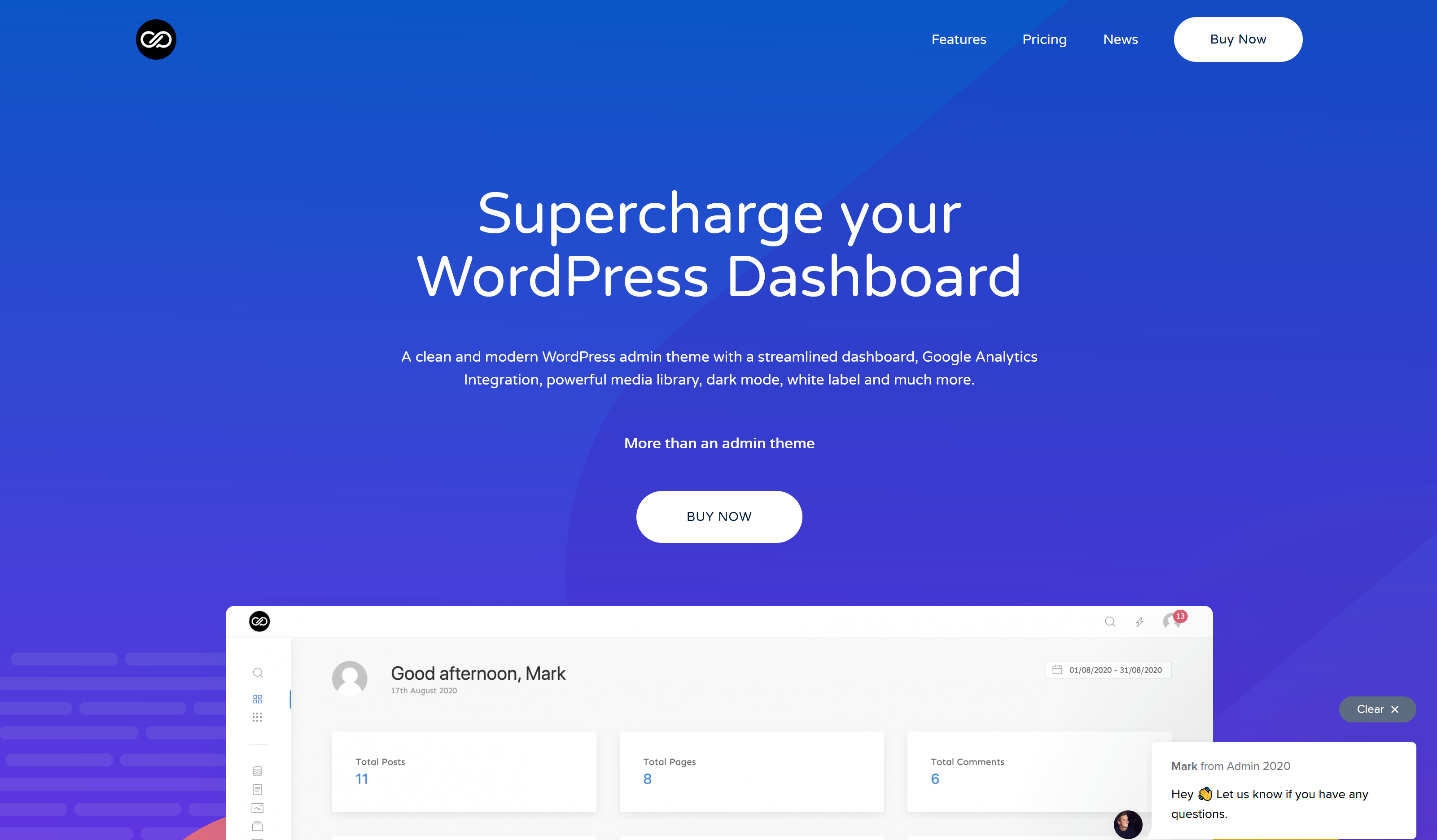 WP Admin 2020 2.0.7 – Supercharge your WordPress Dashboard