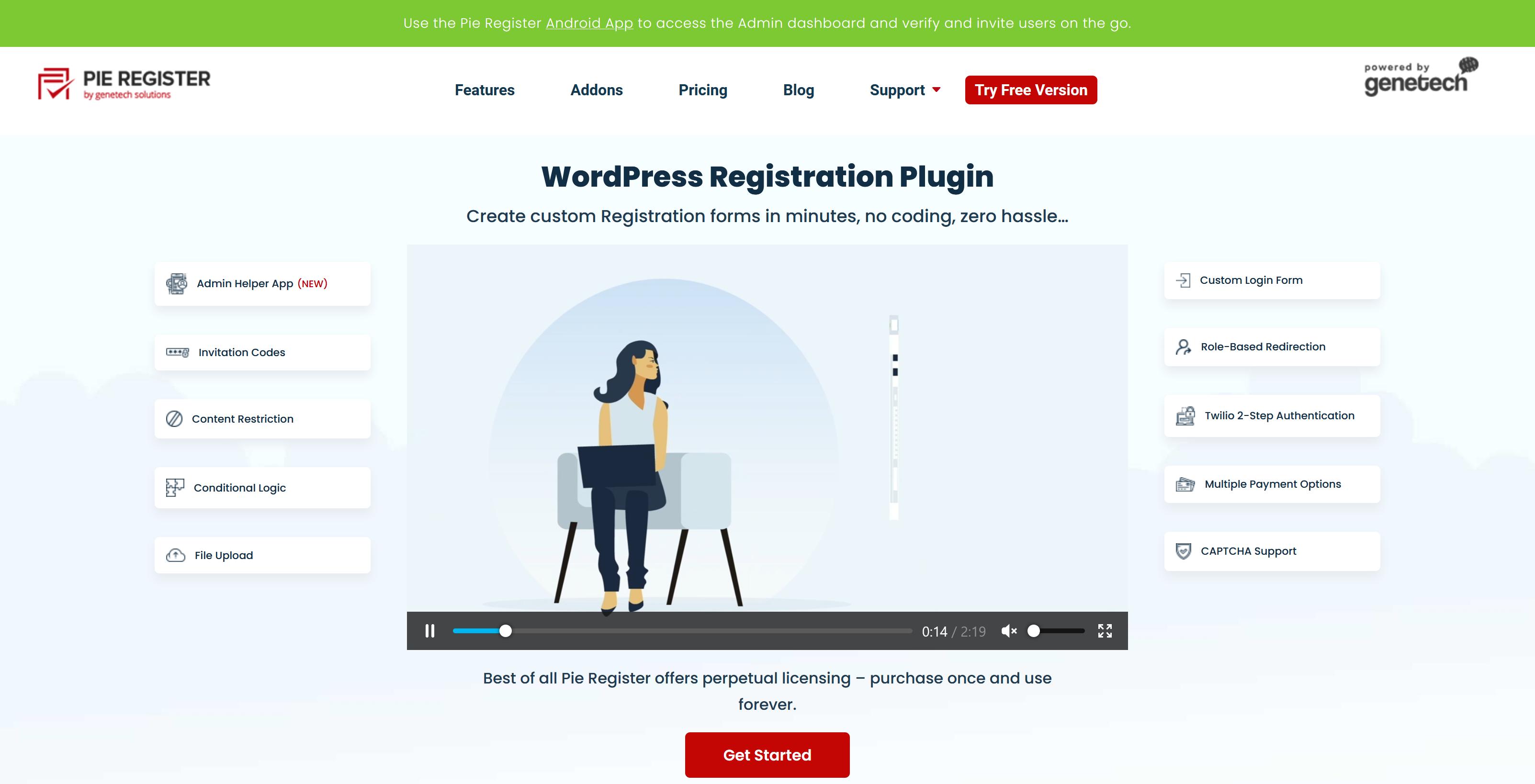 Pie Register Pro 3.7.2.4 +All 8 Addons – Custom Registration Form