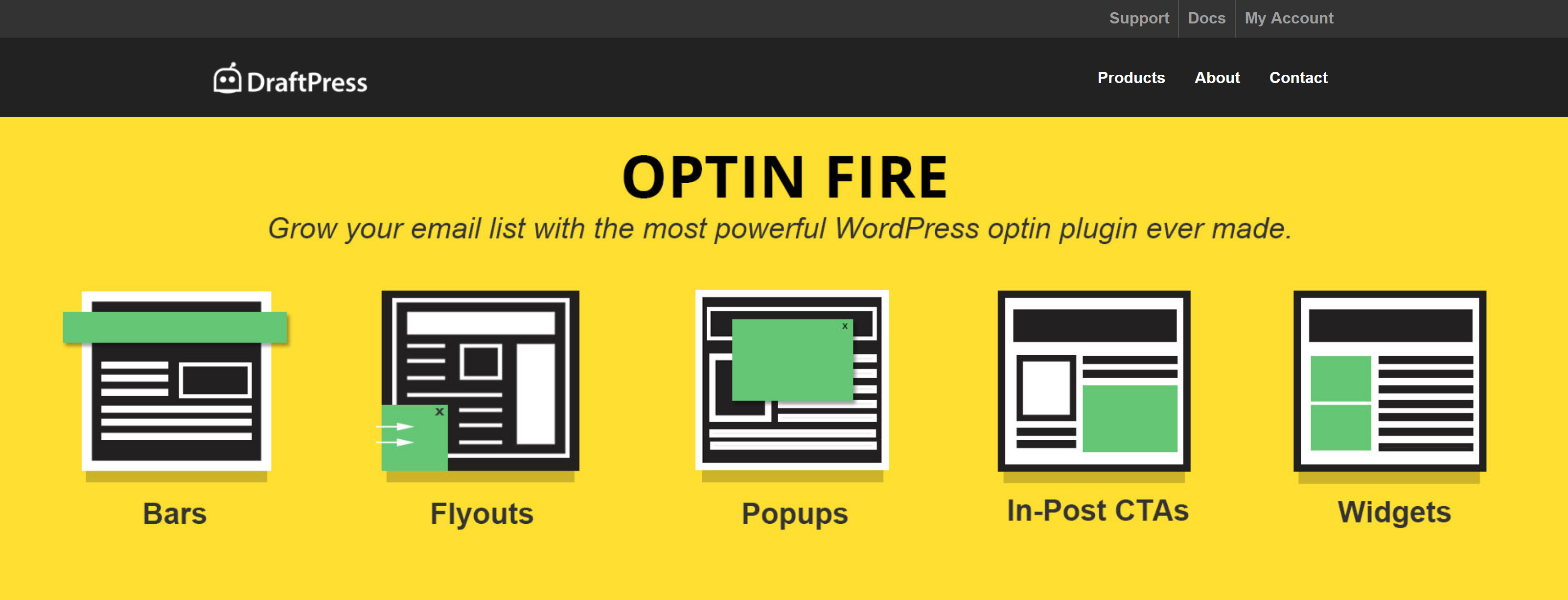 DraftPress Optin-Fire 1.2.0 – Most PowerFul WordPress Optin Plugin Ever Made