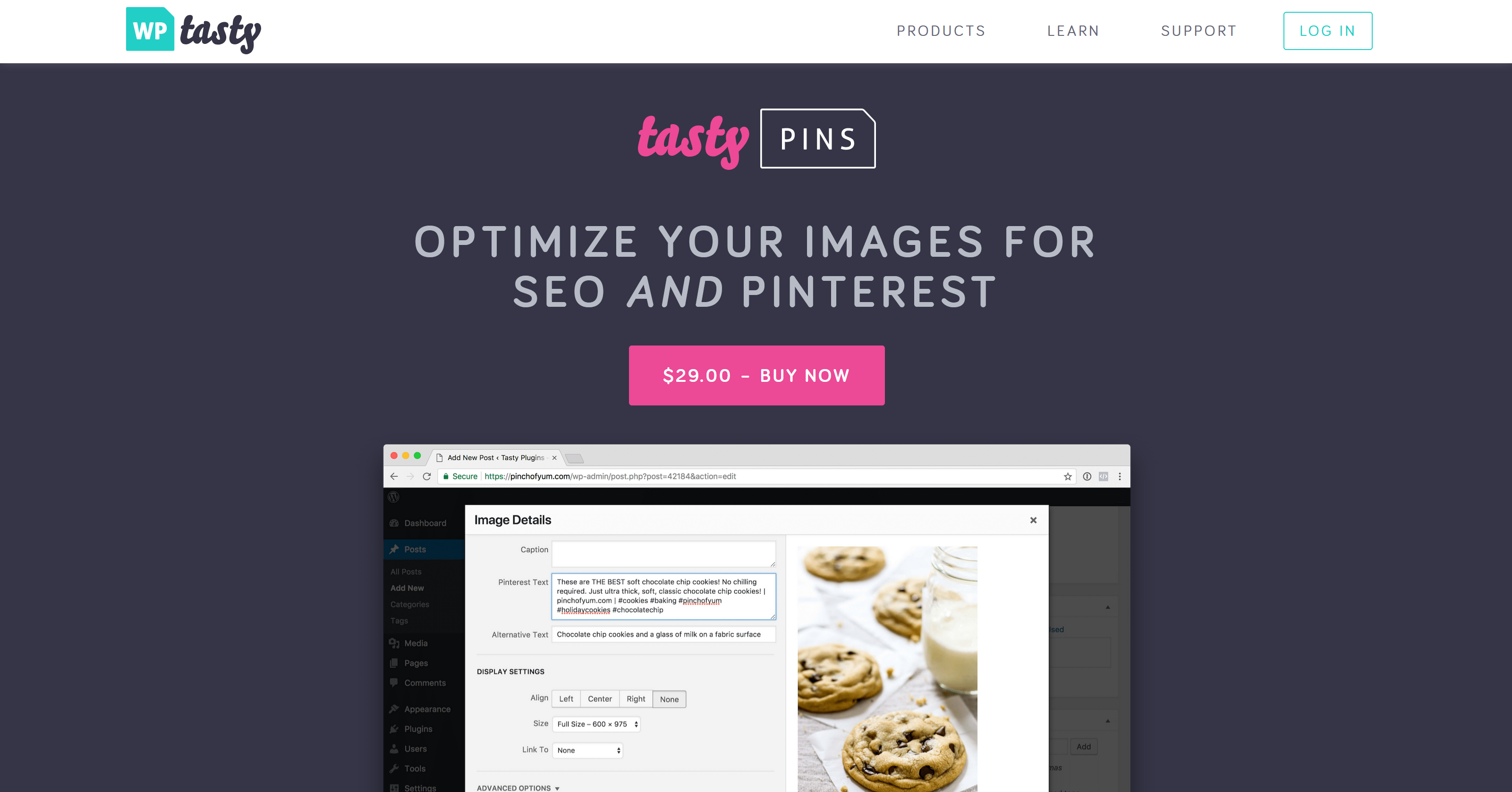 Tasty Pins 1.8.2 – Optimize for Pinterest, SEO, and Screenreaders