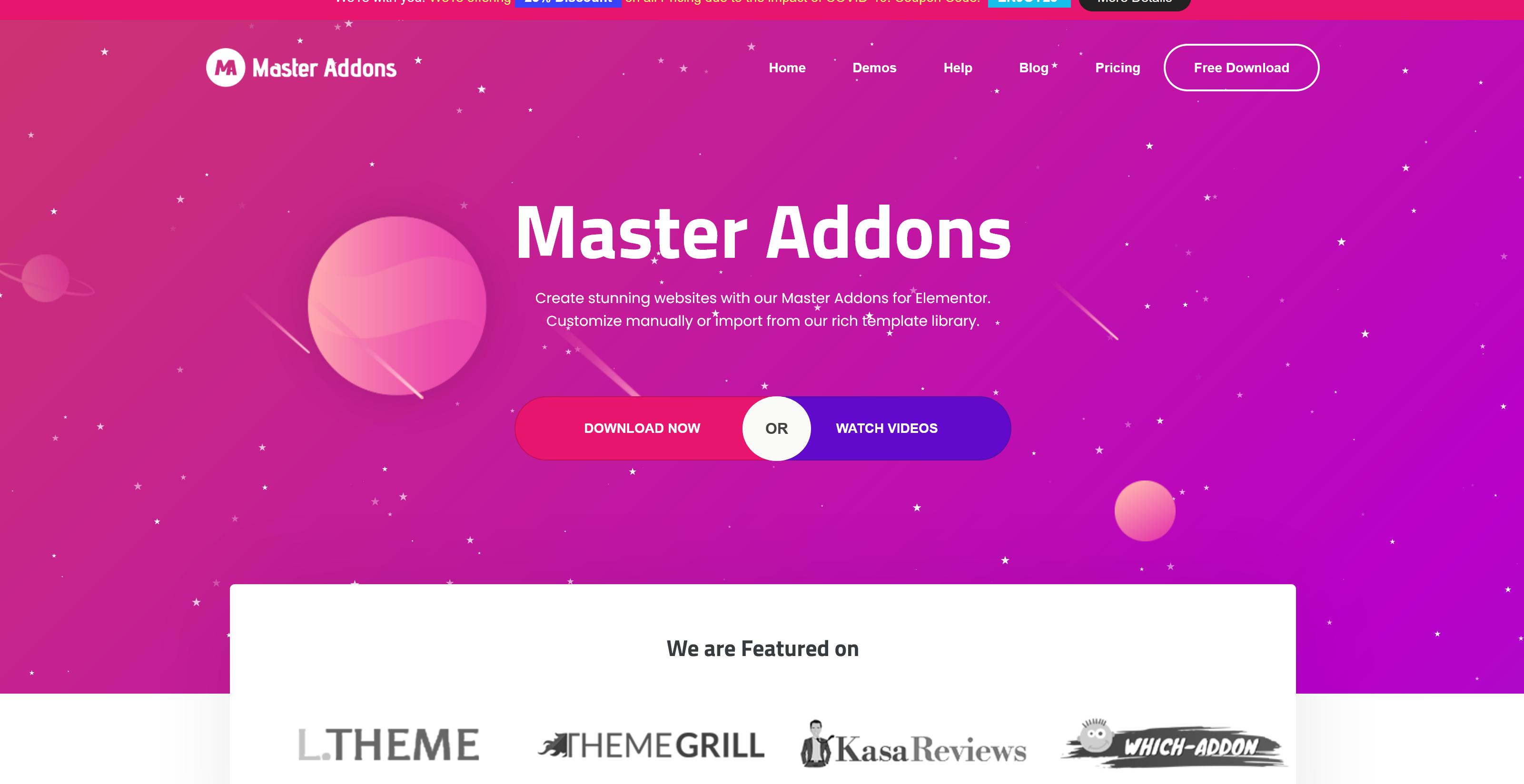 Master Addons Pro 1.5.3 – Forefront Elements for Elementor