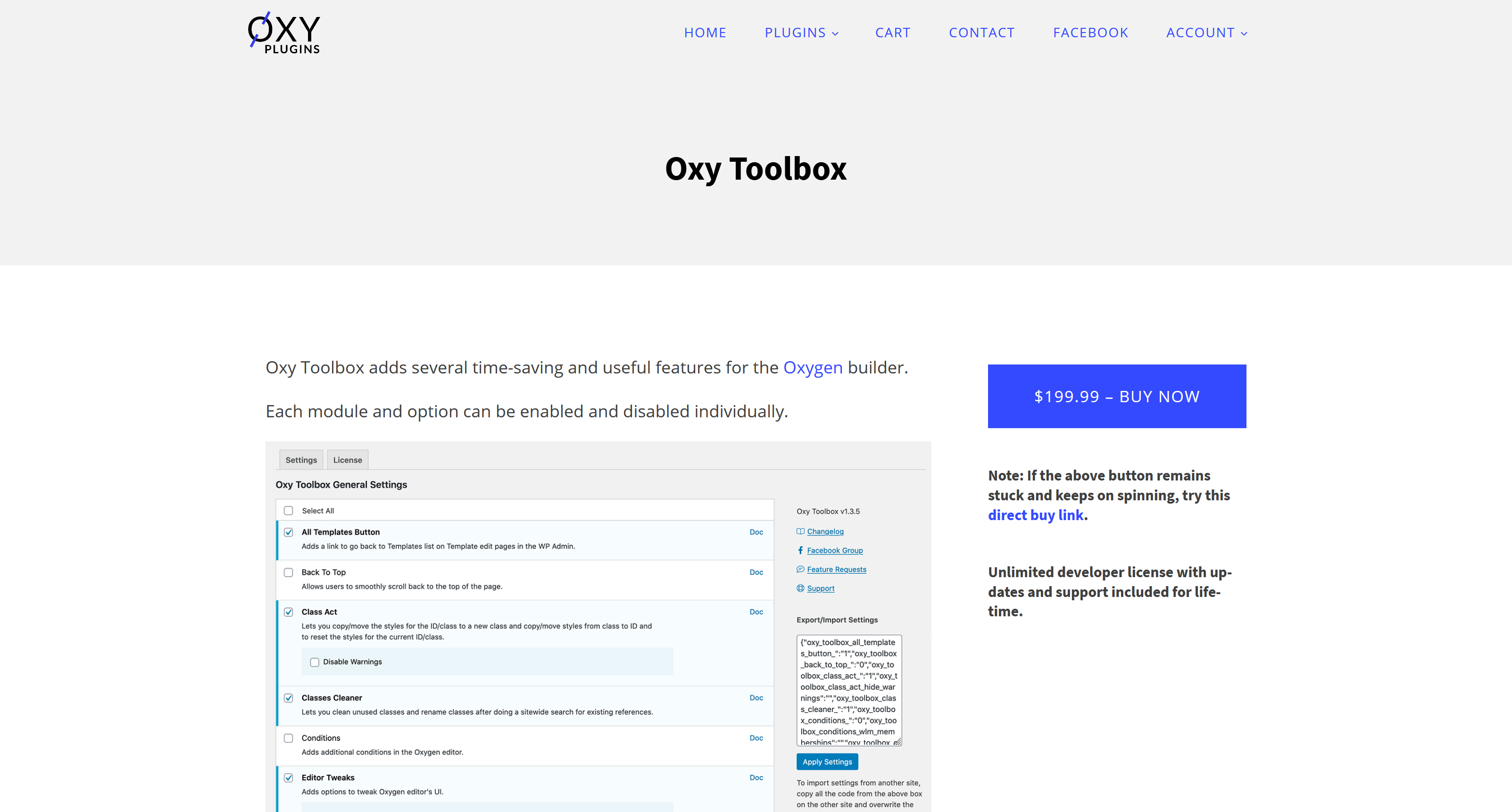 Oxy Toolbox 1.3.9 – Oxy Toolbox adds several time-saving and useful features for the Oxygen builder