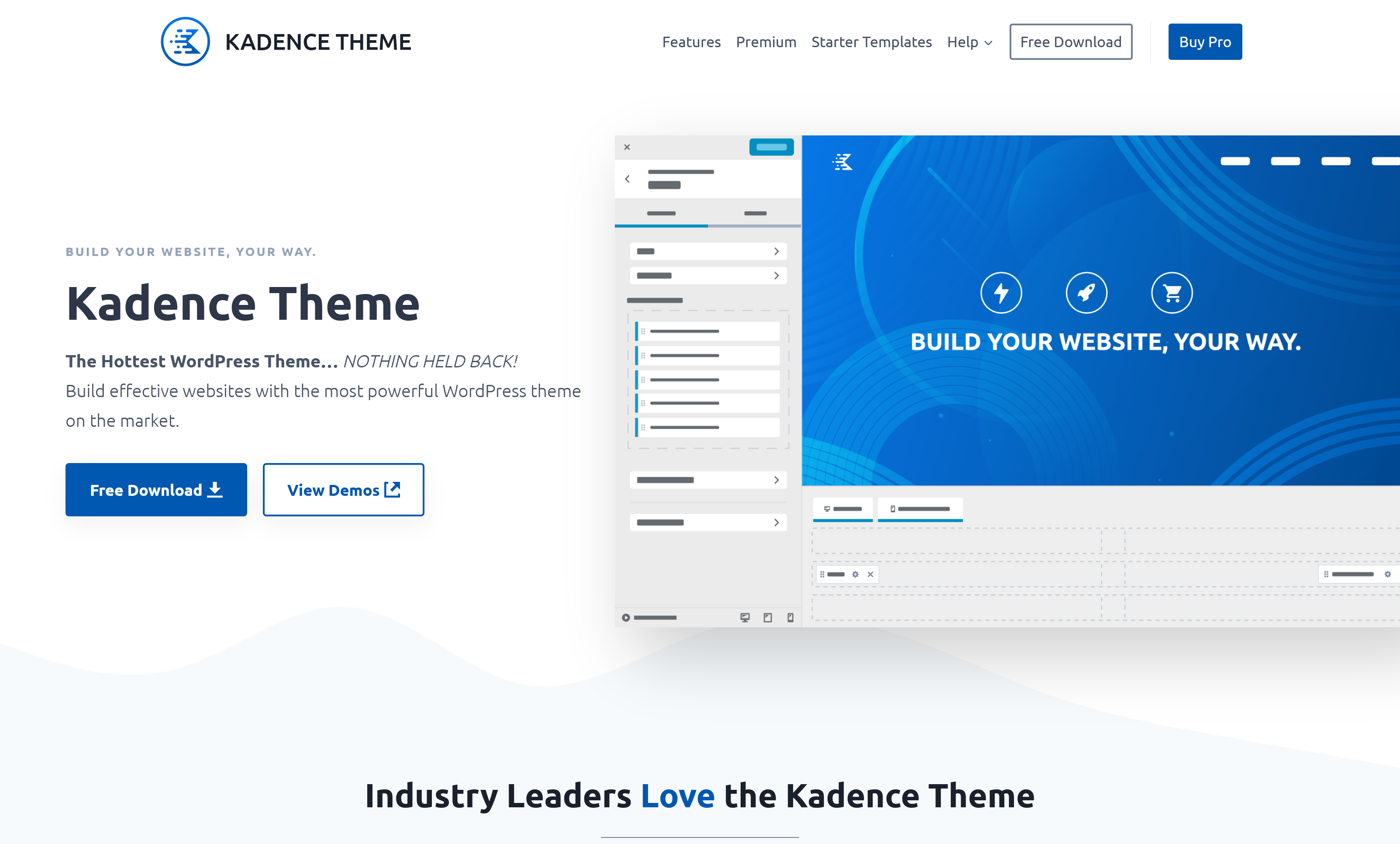 Kadence Theme Pro 0.9.12 + All 16 Plugins –  With Premium Features and Addons