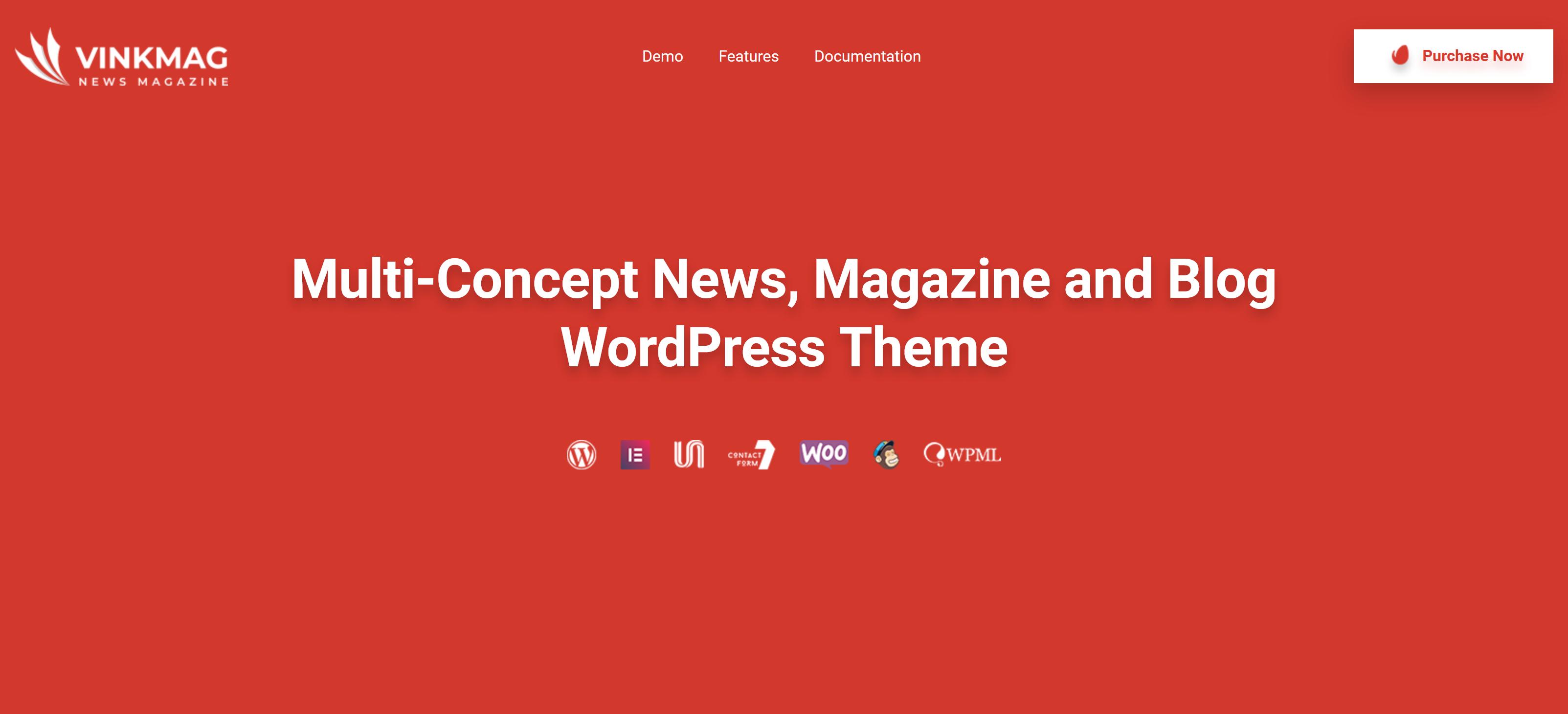 Vinkmag 3.1 – Multi-Concept News, Magazine and Blog WordPress Theme