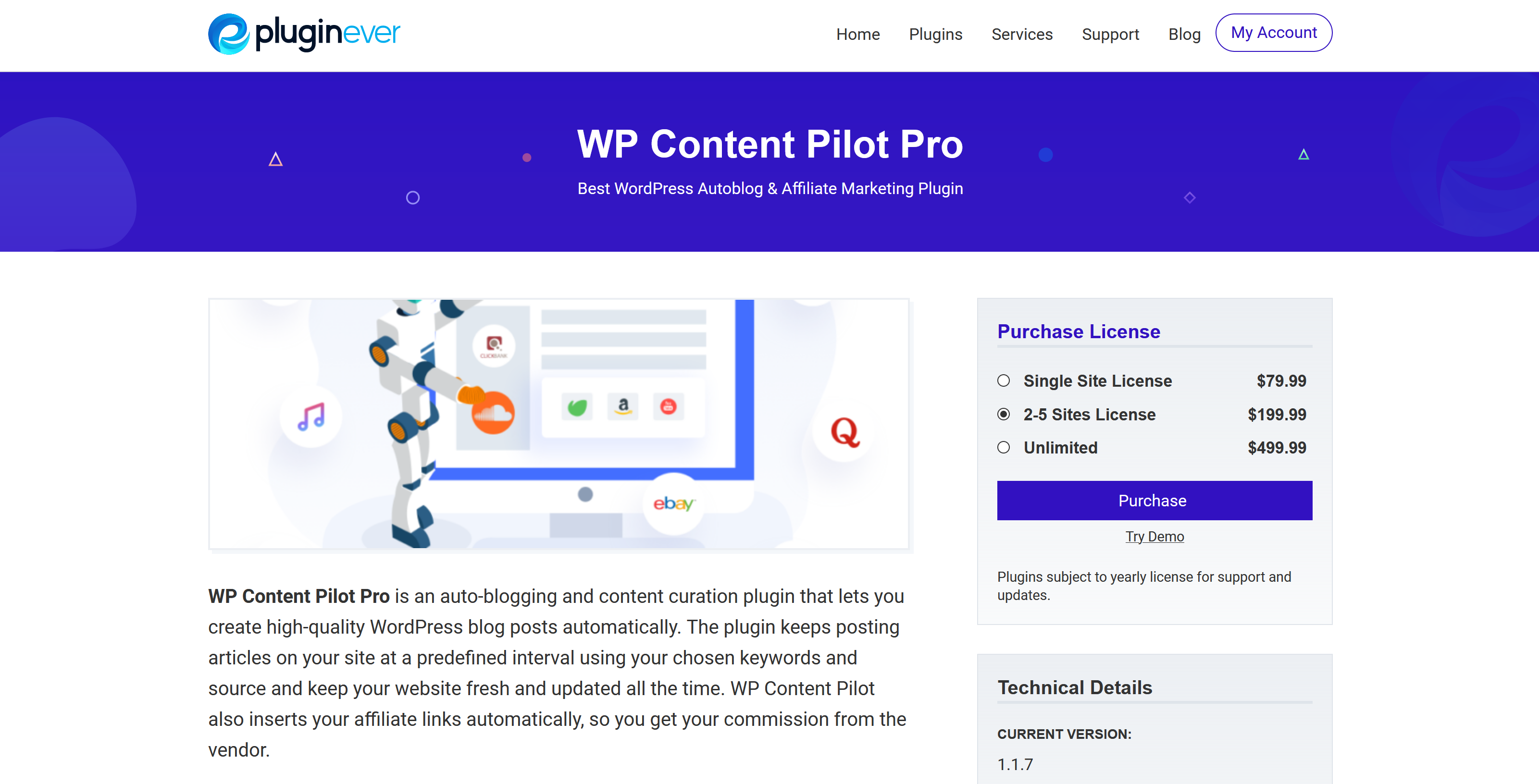 WP Content Pilot Pro 1.1.7 – Best WordPress Autoblog & Affiliate Marketing Plugin