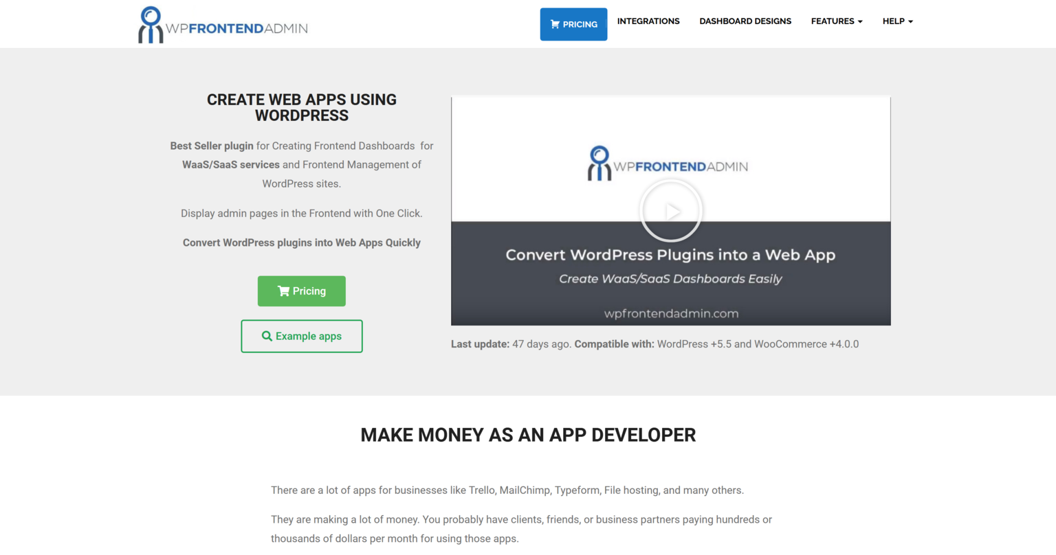 WP Frontend Admin (Premium) 1.16.0 – Create Web Apps with WordPress