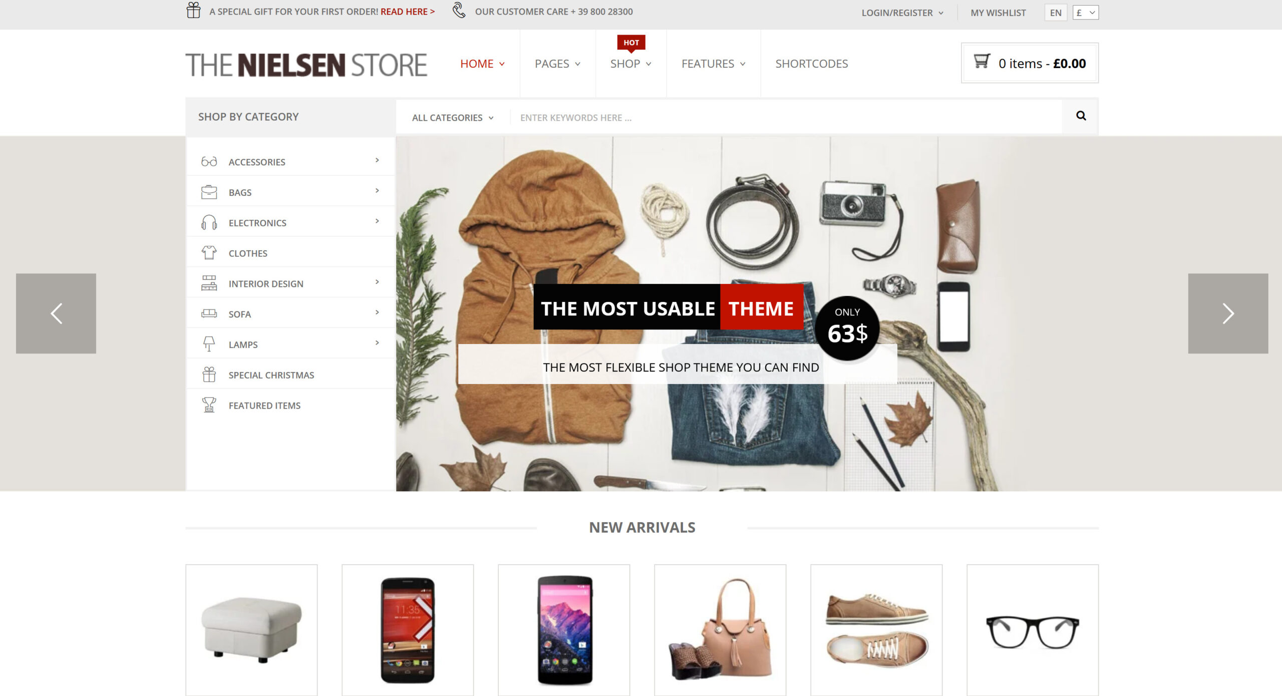 Nielsen 1.9.14 – E-commerce WordPress WooCommerce Theme