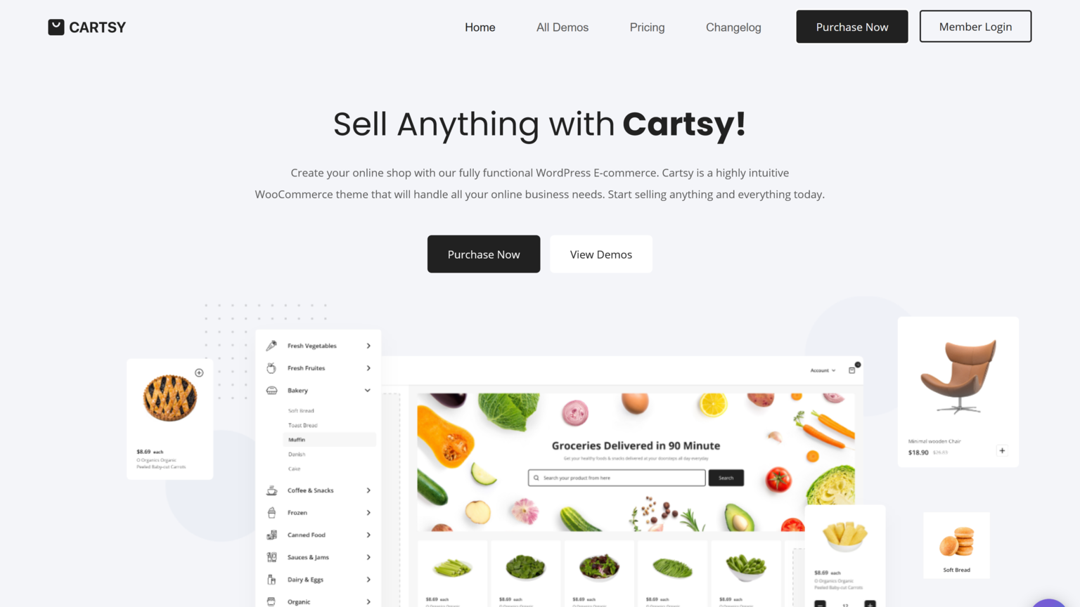 Cartsy 1.4 – SuperFast WordPress WooCommerce Theme