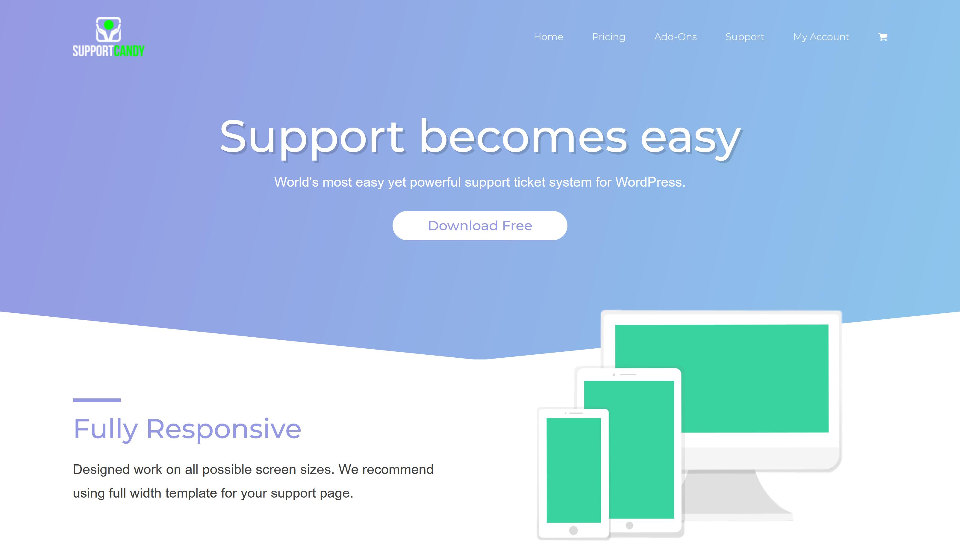 SupportCandy + Premium Addons WordPress Support System 2.1.9