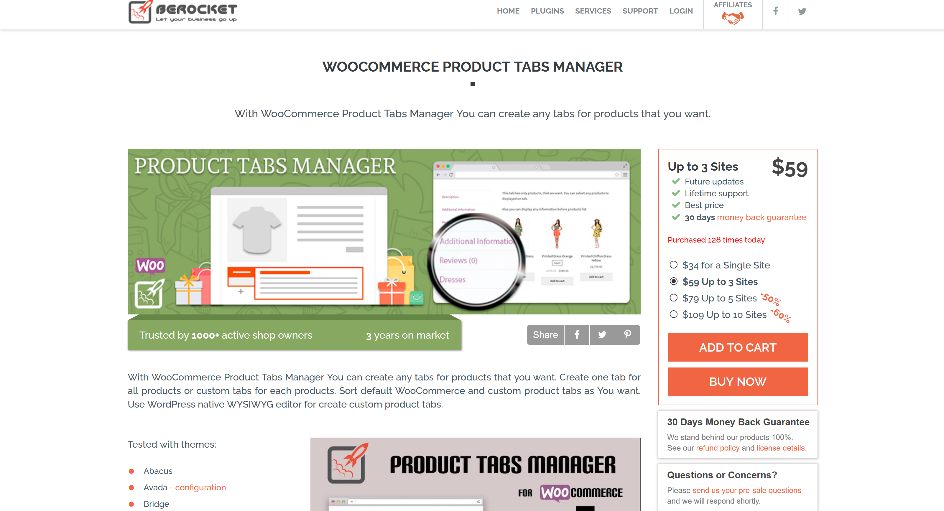 WooCommerce Product Tabs Manager By BeRocket 3.0.2.1
