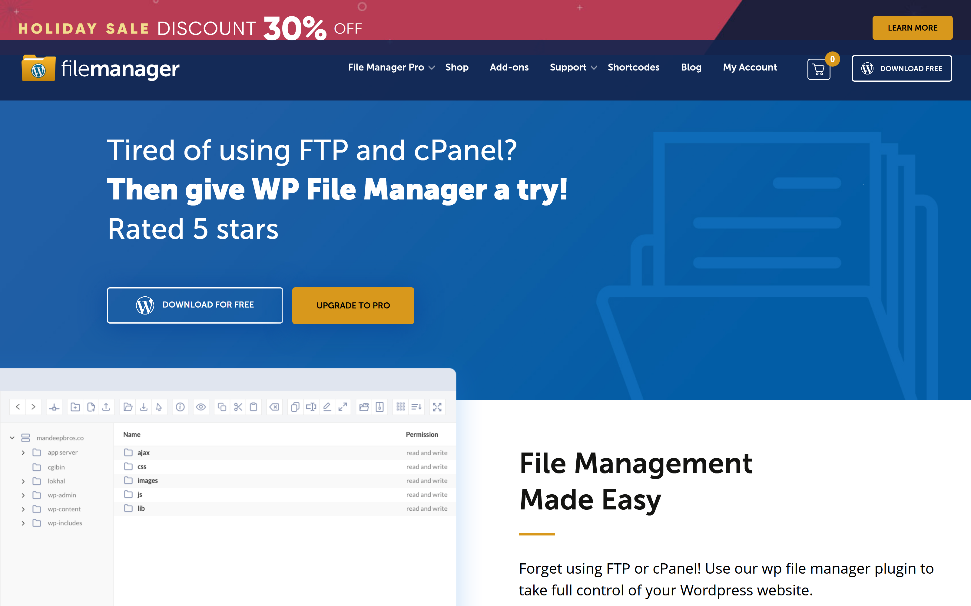 File Manager Plugin For WordPress 7.5.6 – File Management Made Easy