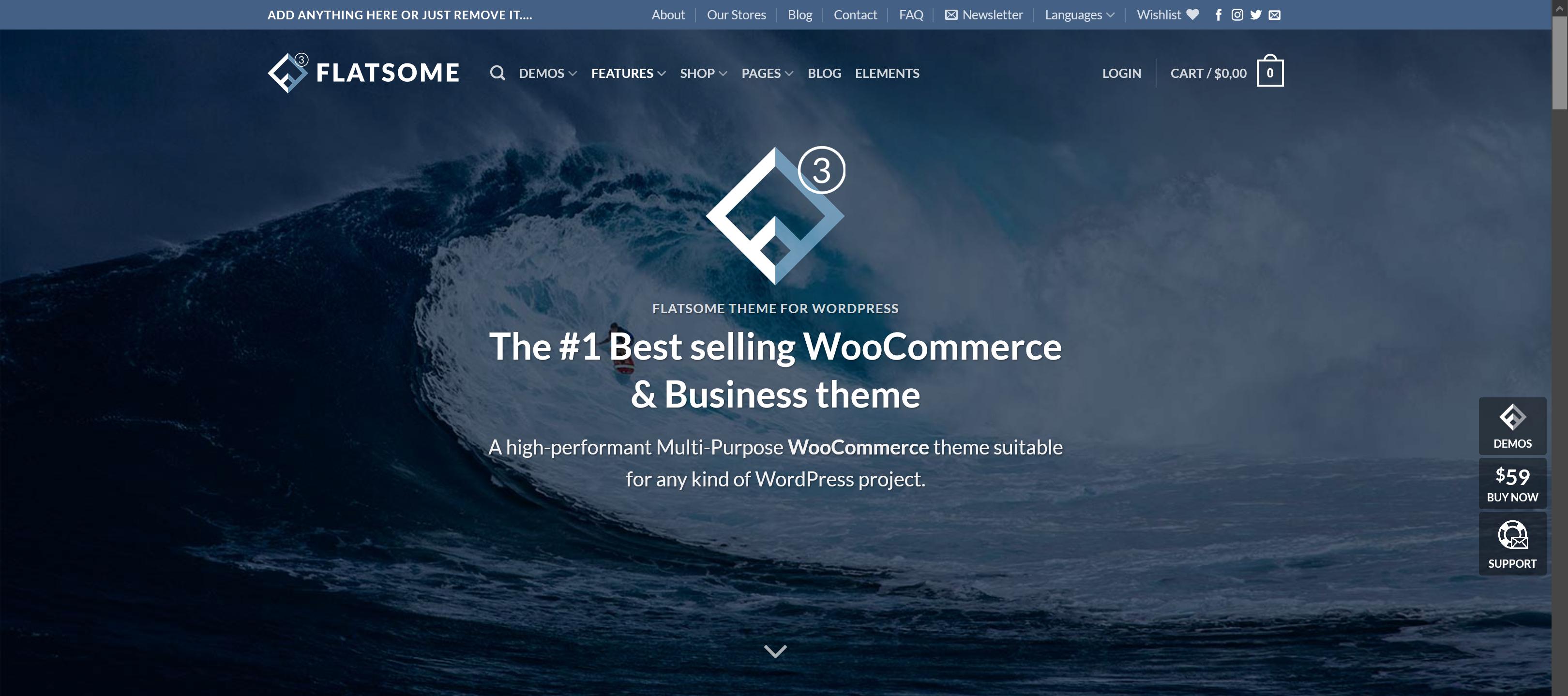 Flatsome 3.14.2 – MultiPurpose WooCommerce Theme
