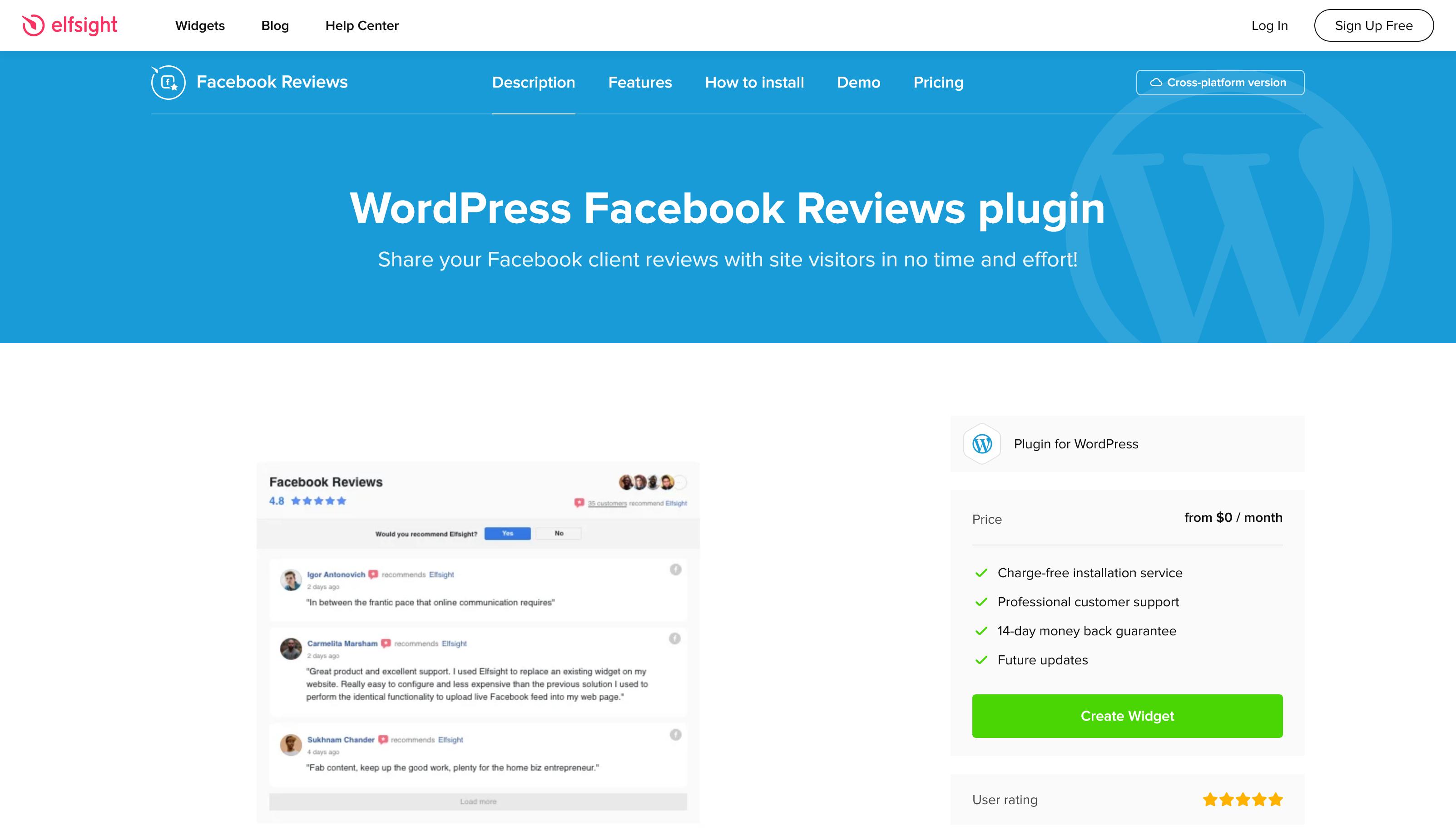 Facebook Reviews 1.2.5 – WordPress Facebook Reviews plugin