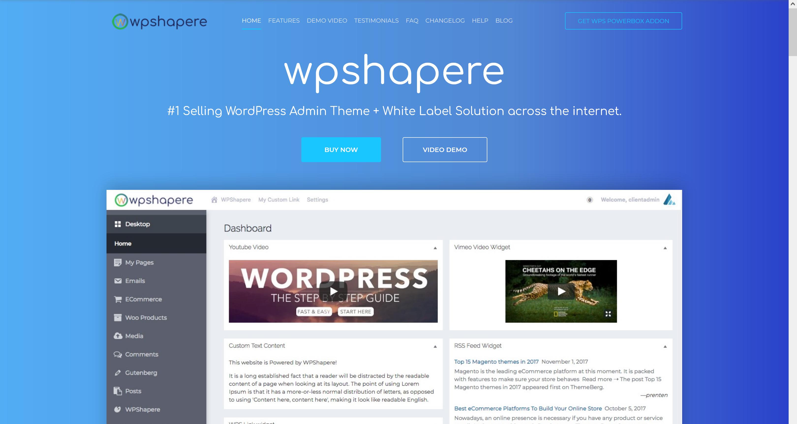 WPShapere 6.1.15 – WordPress Admin Theme