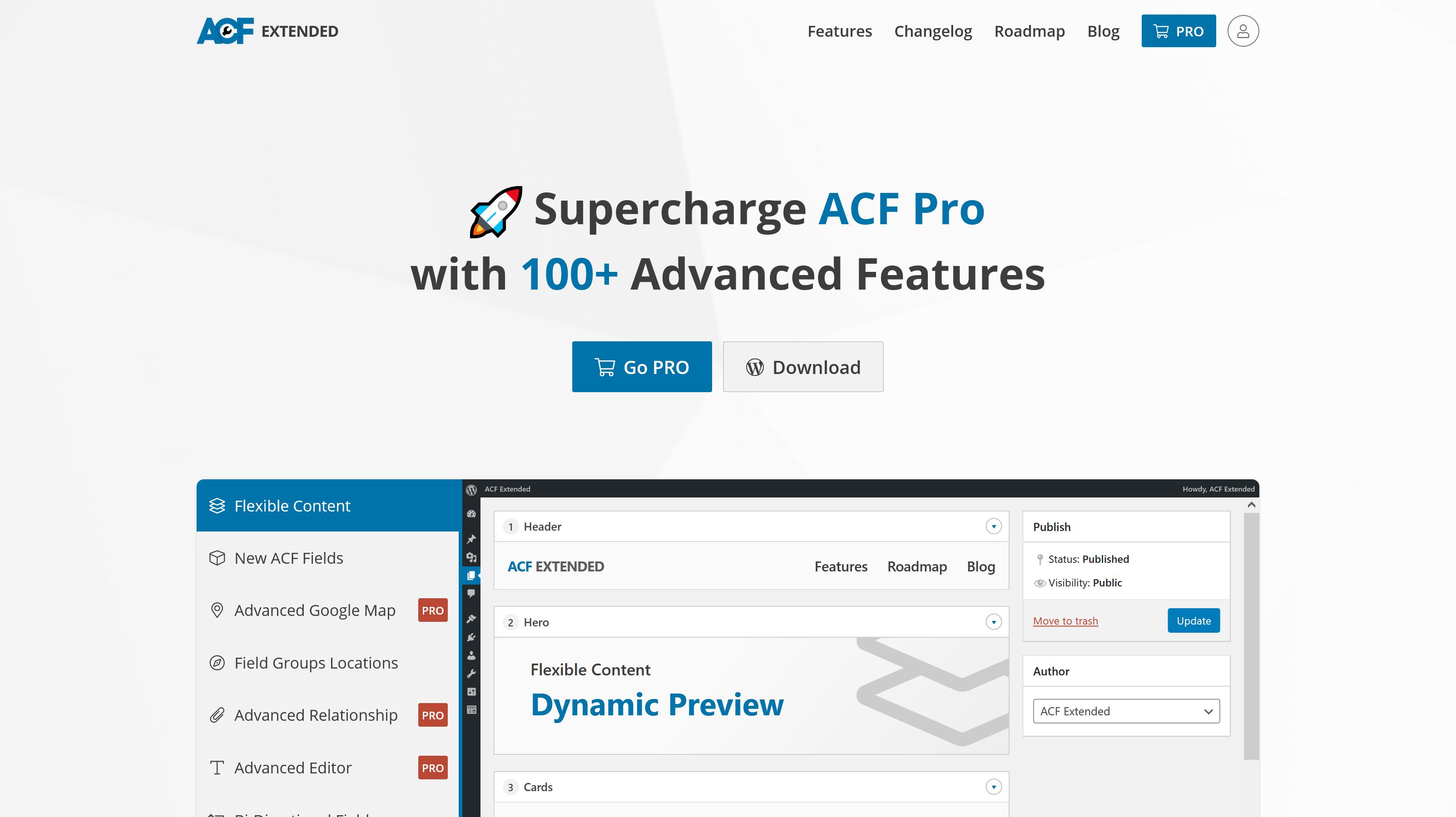 Advanced Custom Fields Extended 0.8.8.4 – WordPress Plugin