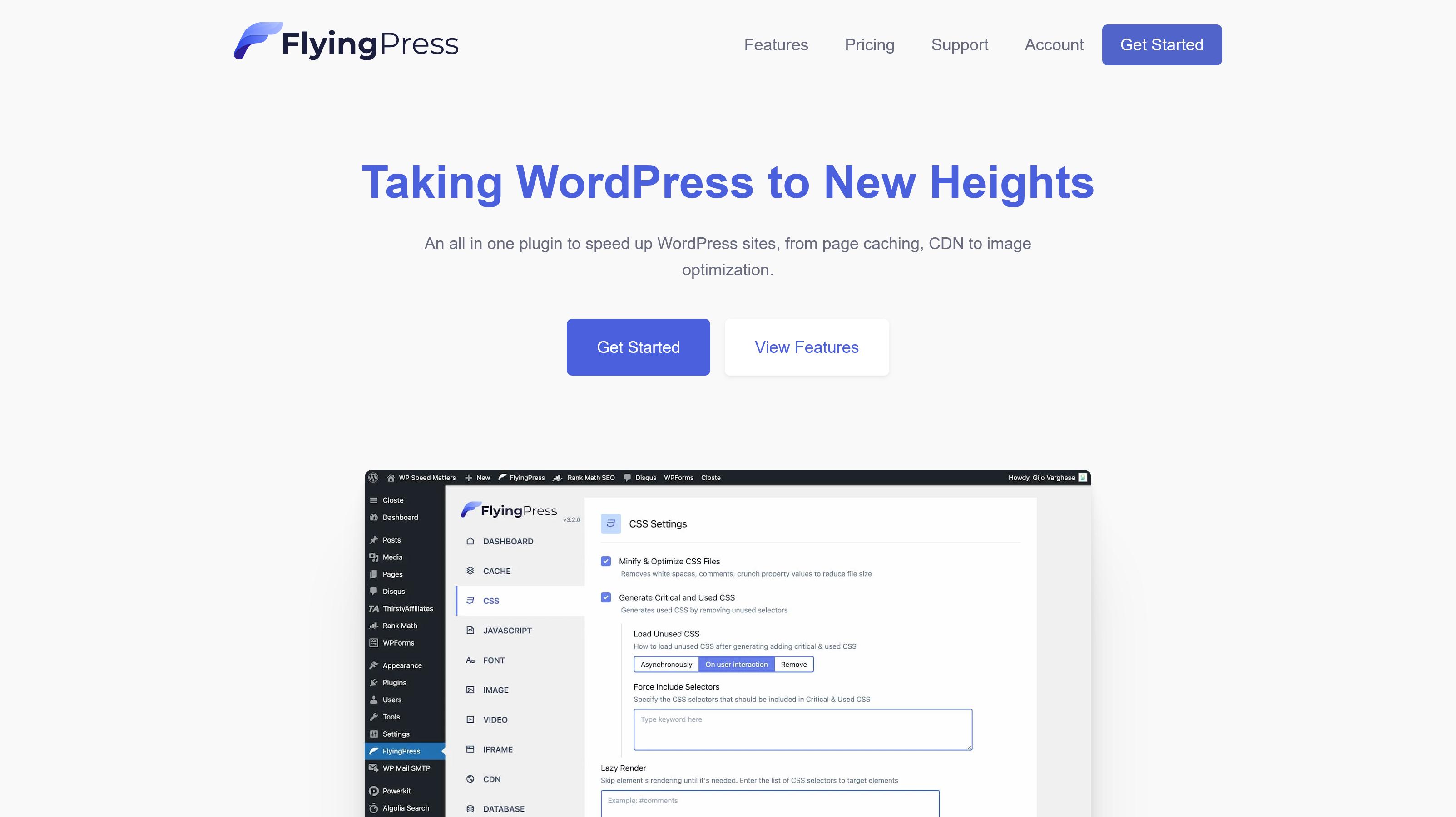 FlyingPress Pro WordPress Plugin 3.6.0