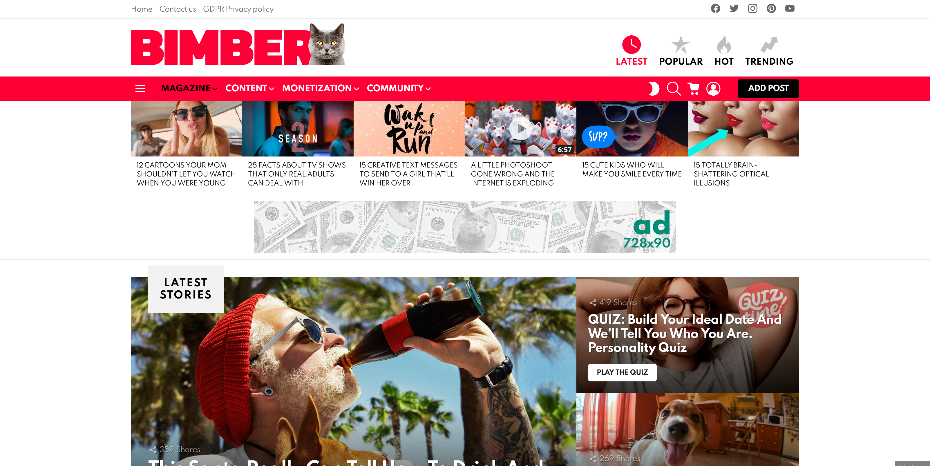 Bimber 9.1.1 – Viral Magazine WordPress Theme