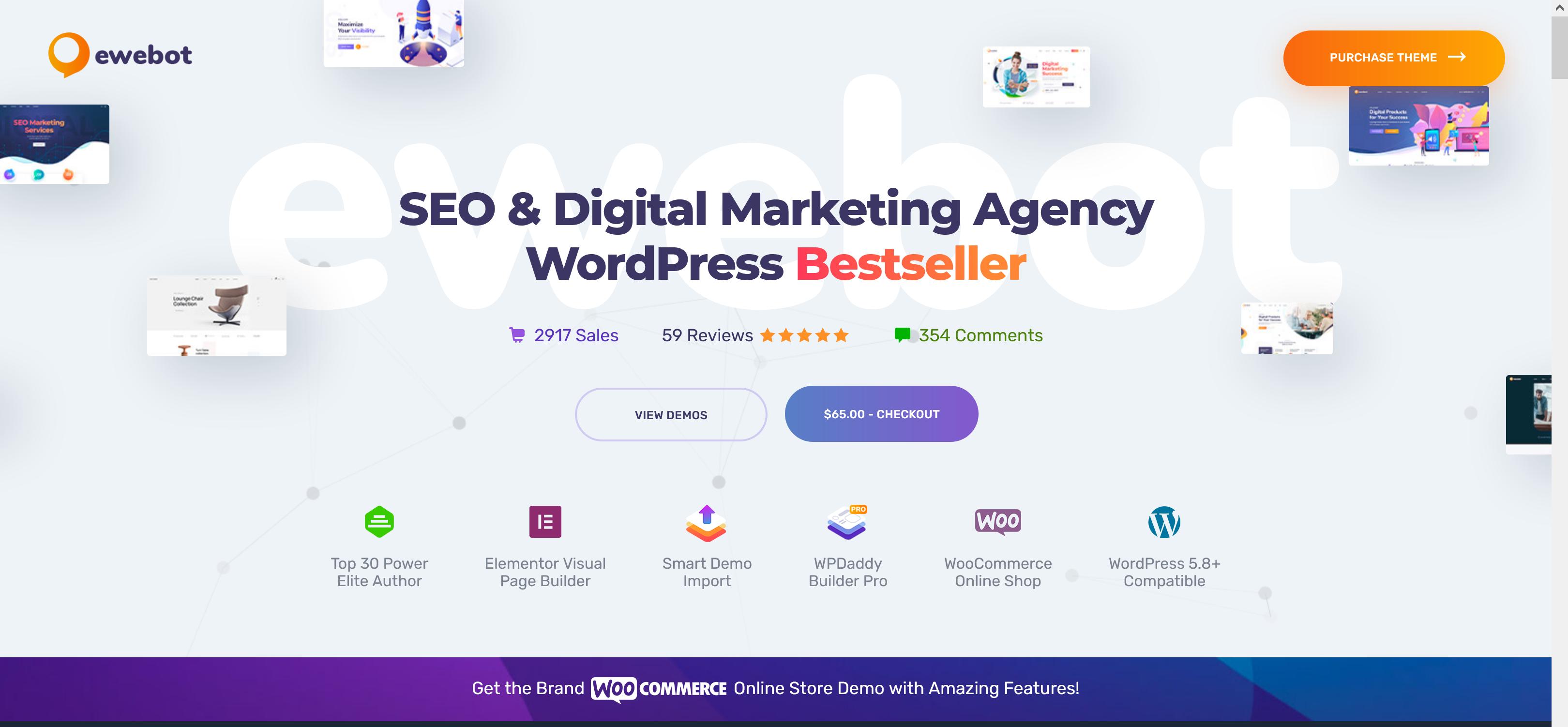 Ewebot 2.5.0 – SEO Marketing Theme