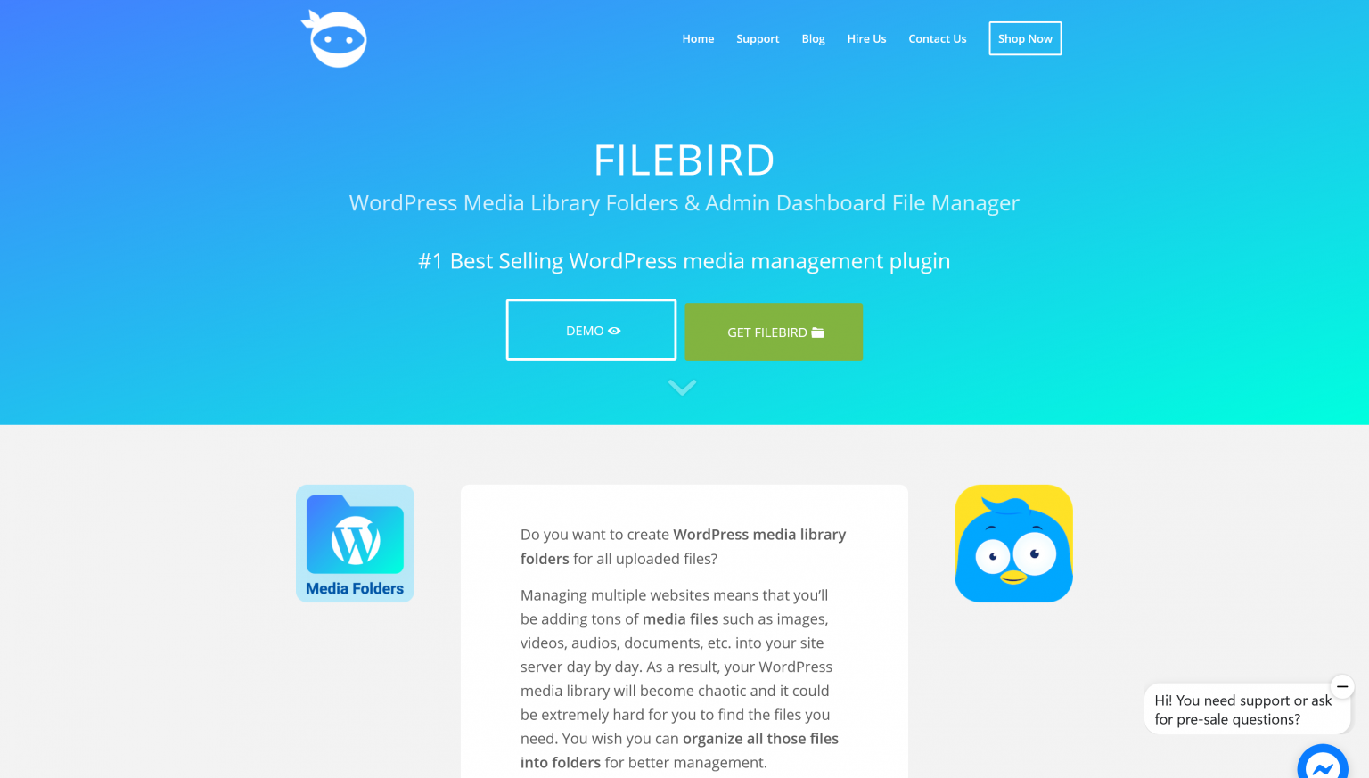FileBird 4.9.3 – WordPress Media Library Folders