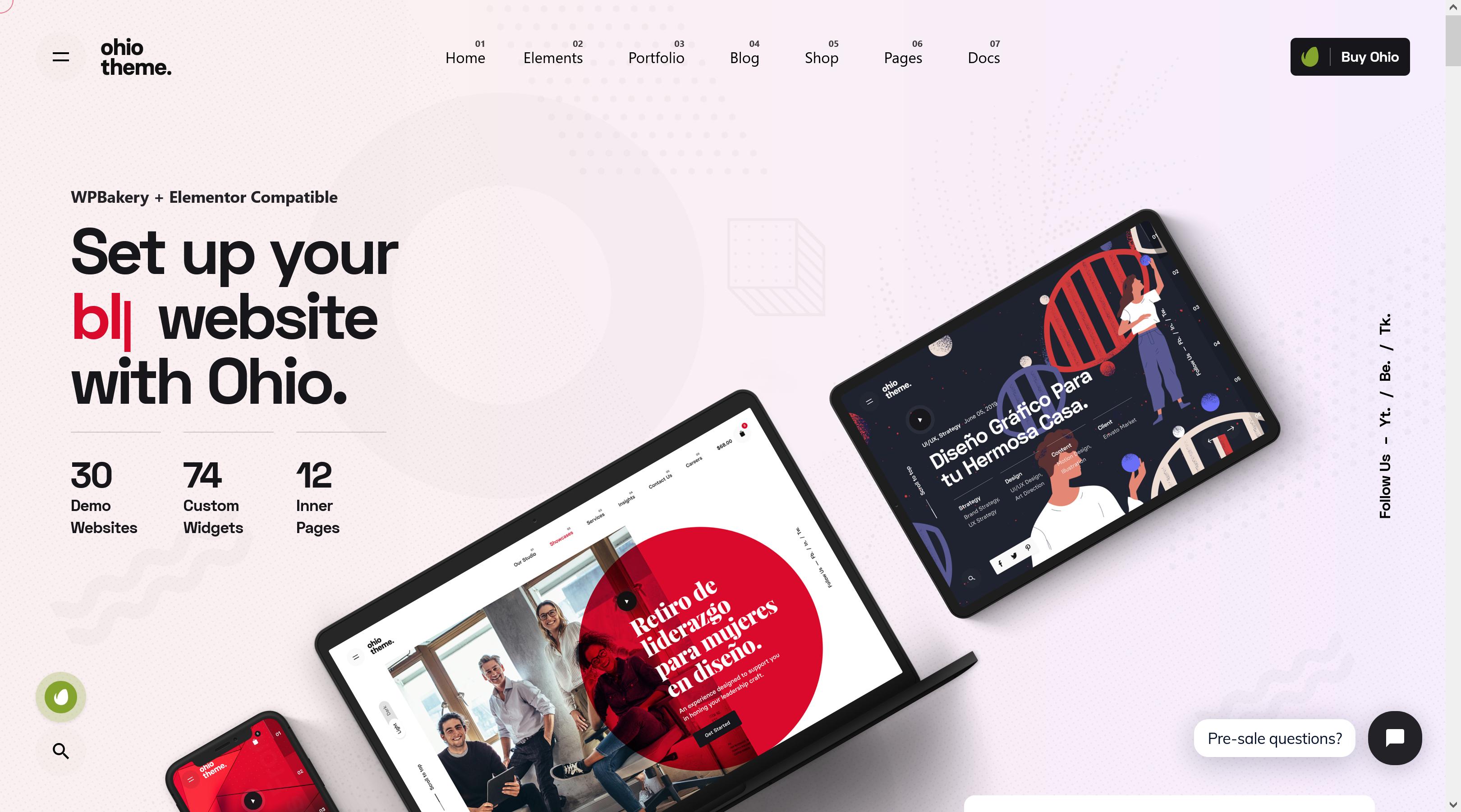 Ohio 2.4.2 – Creative Agency WordPress Theme