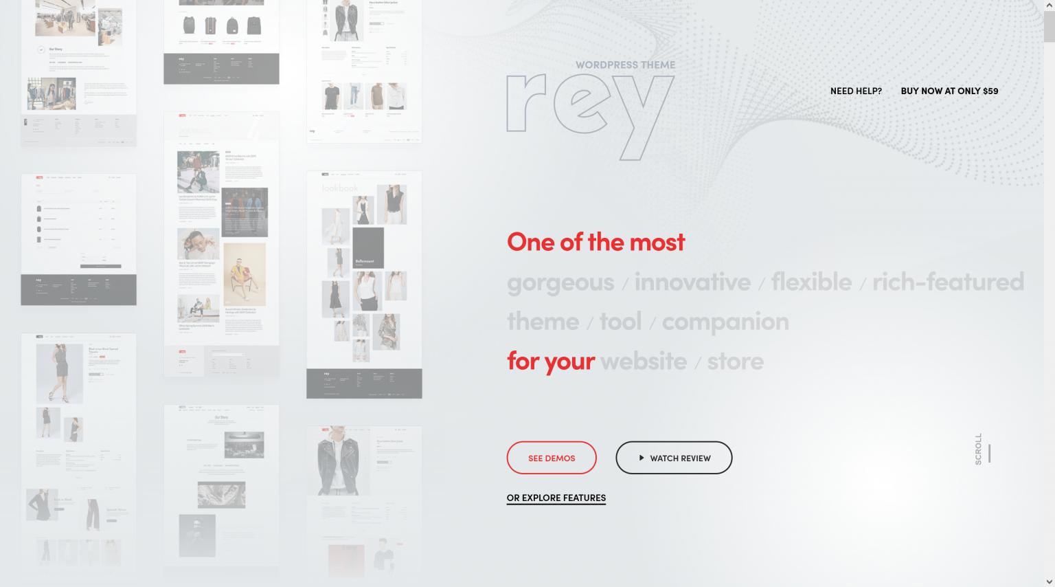 Rey 2.1.3 – Fashion & Clothing Theme