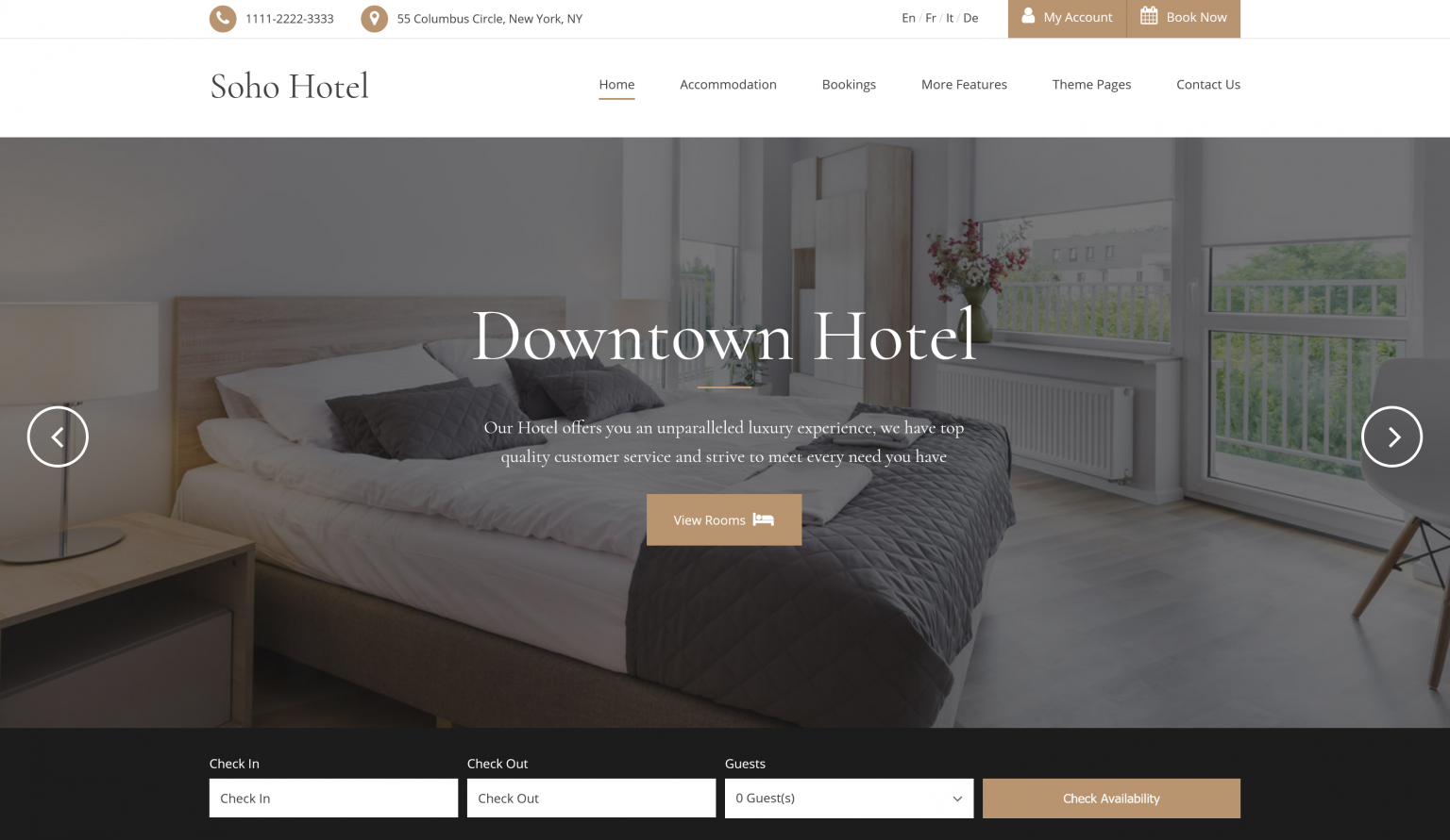 Soho Hotel Booking Calendar Theme 4.0.2