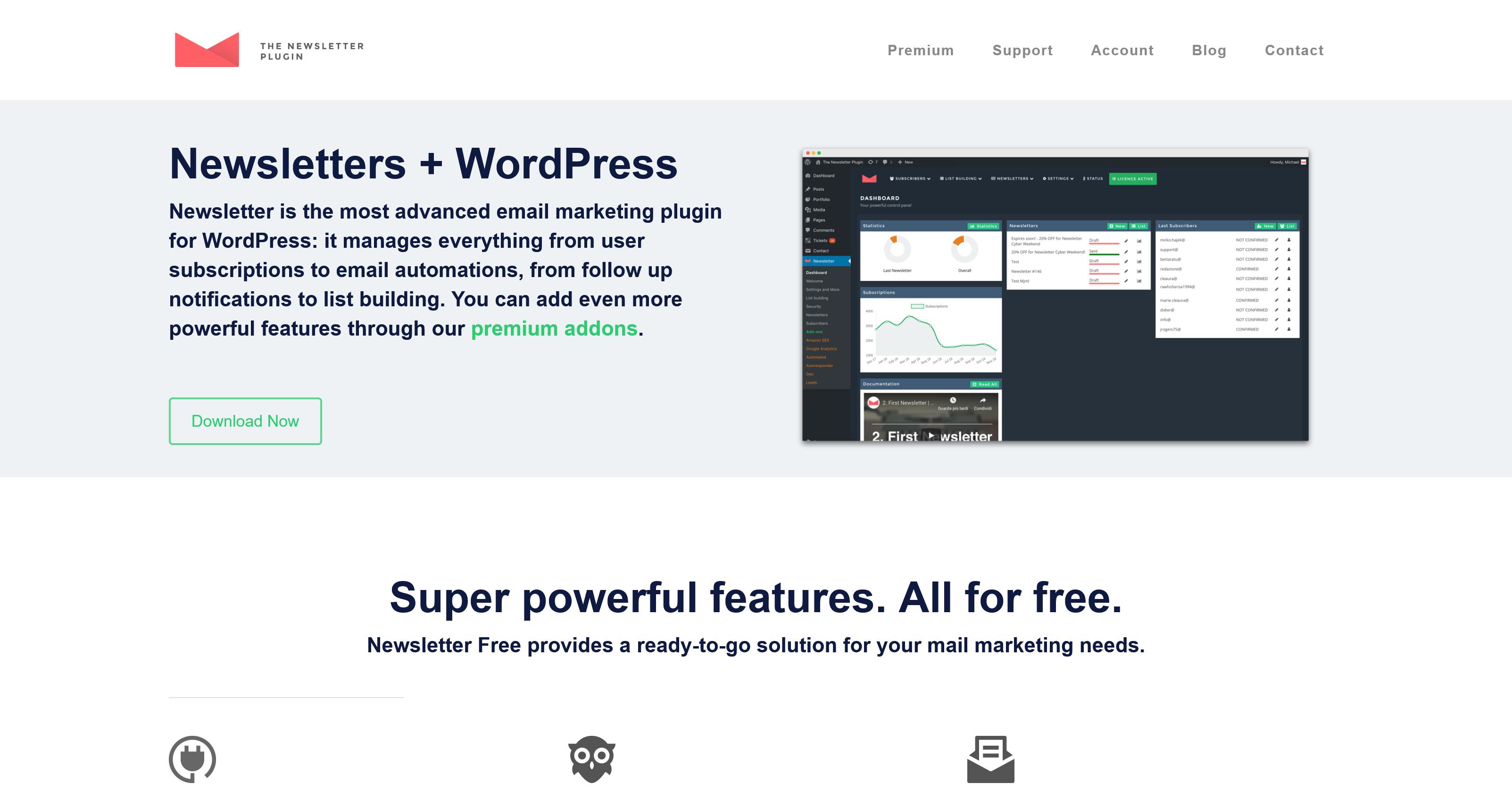 Newsletter 7.2.9 + 42 Premium Addons – WordPress Newsletter Plugin